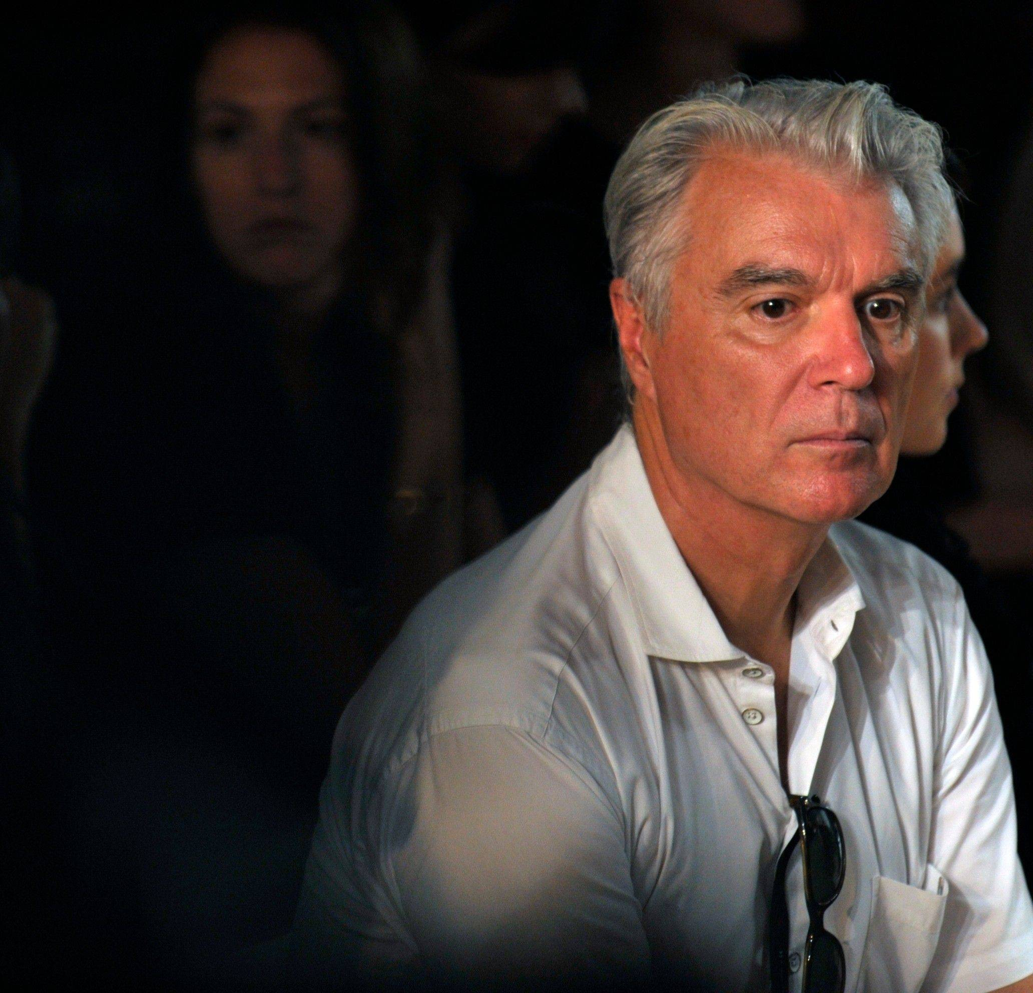 Musician David Byrne attends the Spring 2012 fashion show from Rodarte during Fashion Week, Tuesday, Sept. 13, 2011 in New York.