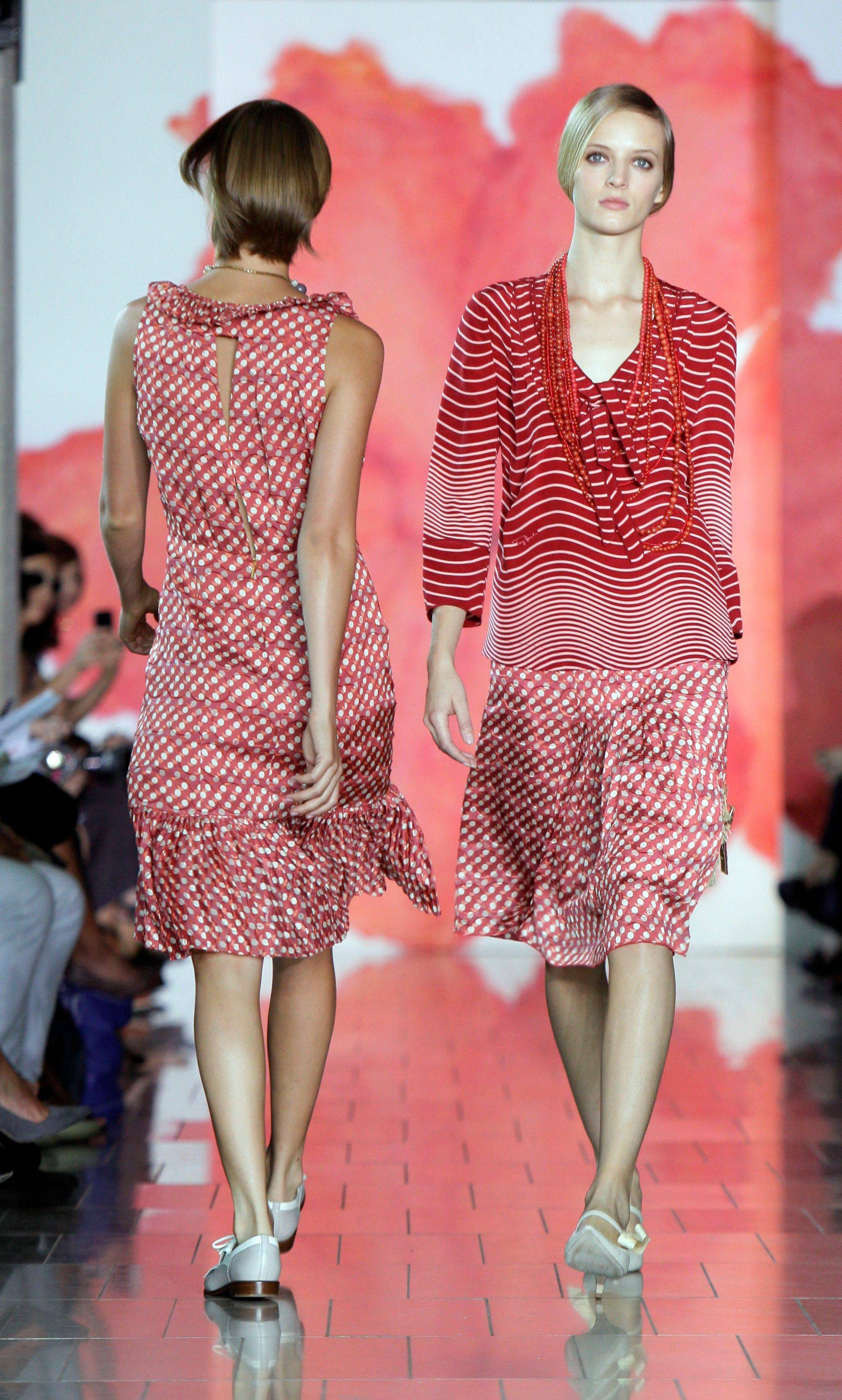 The spring 2012 collection of designer Tory Burch is modeled during Fashion Week in New York, Tuesday, Sept. 13, 2011.