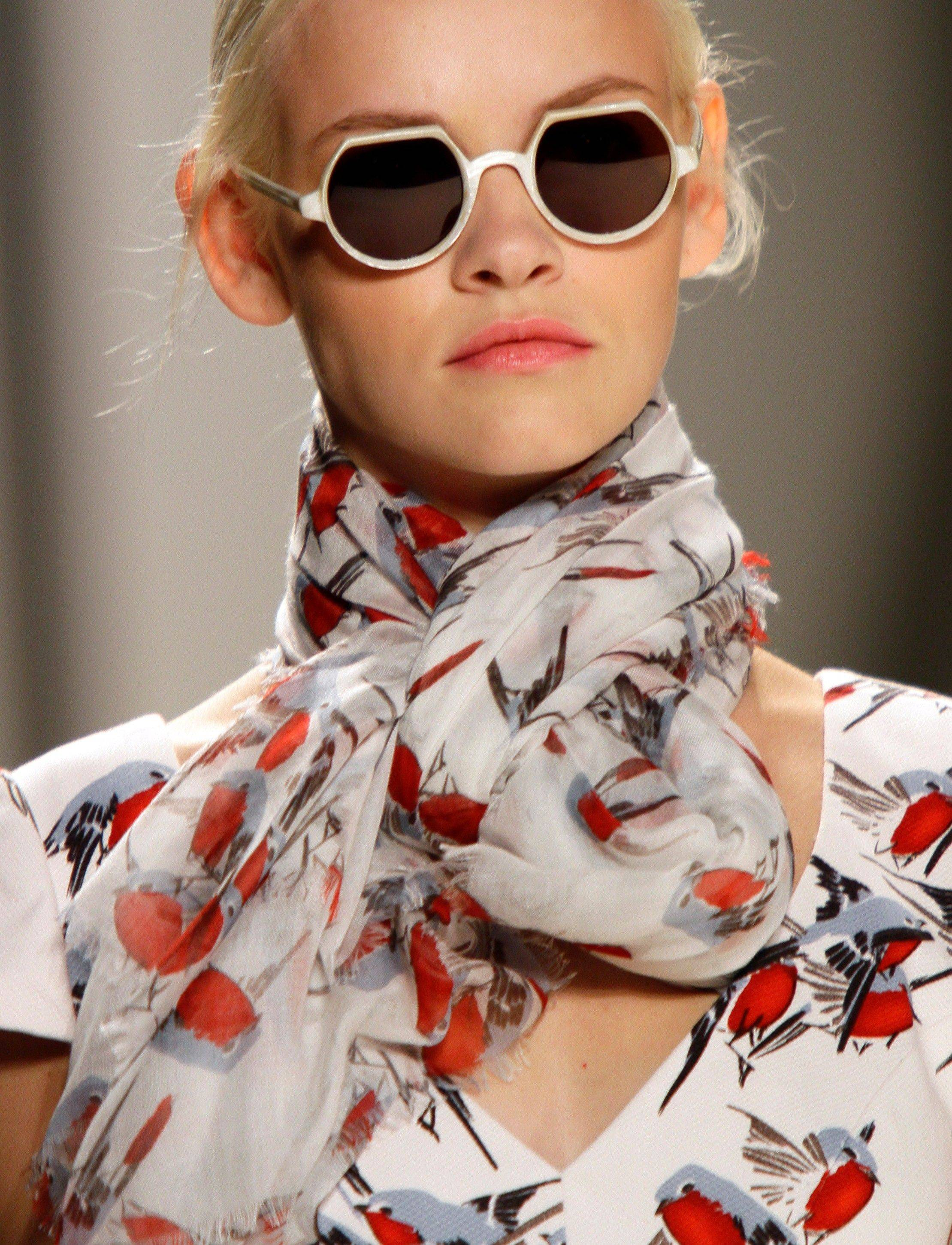 Fashion from the Spring 2012 collection of Carolina Herrera is modeled Monday, Sept. 12, 2011, during Fashion Week in New York.