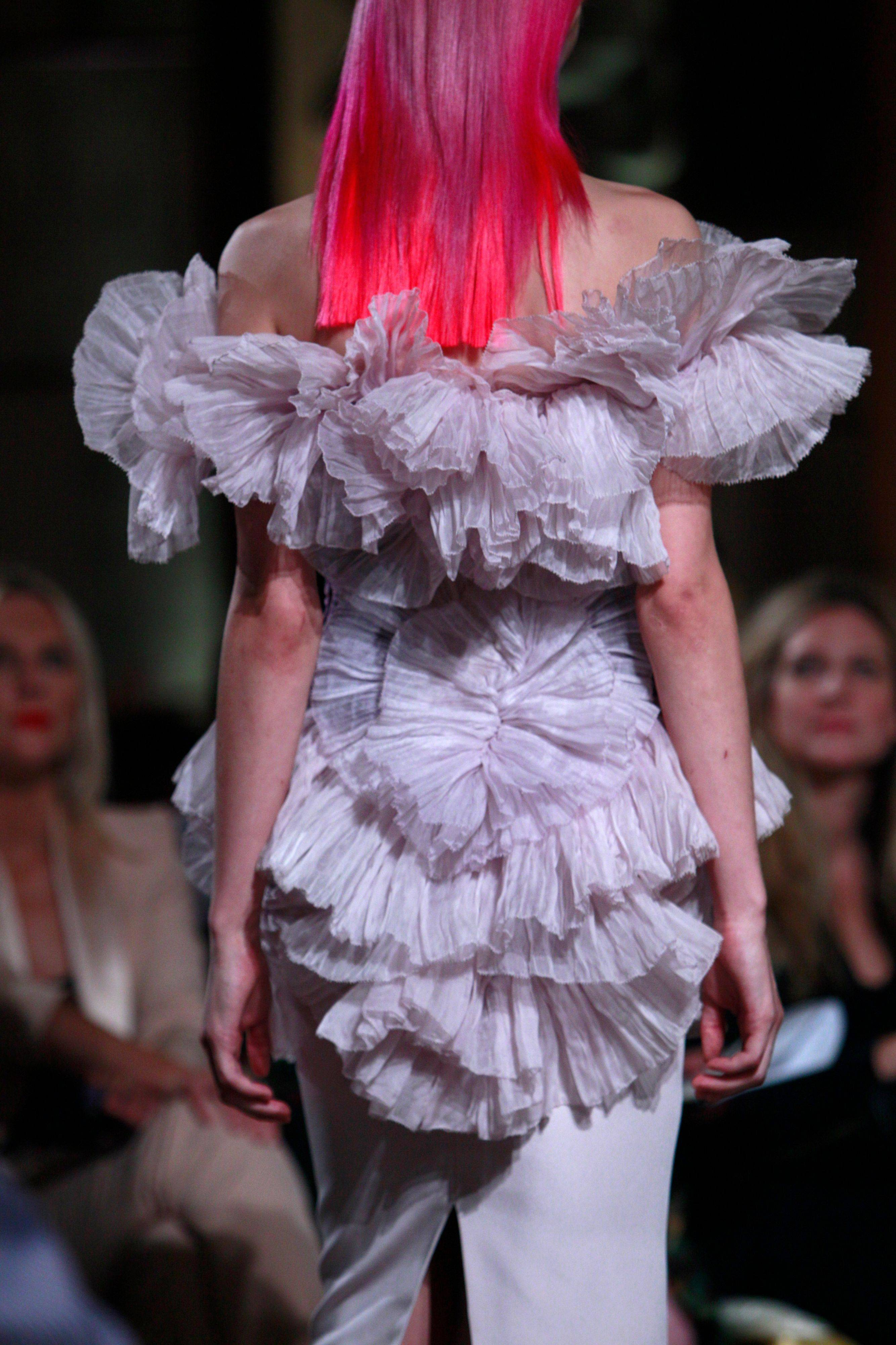 The Marchesa Spring 2012 collection is modeled Tuesday, Sept. 13, 2011 during Fashion Week in New York.