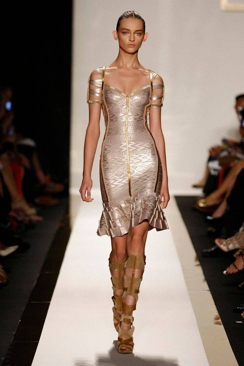 This photo courtesy of Herve Leger shows the Herve Leger Spring 2012 collection modeled Tuesday, Sept. 13, 2011, during Fashion Week in New York.