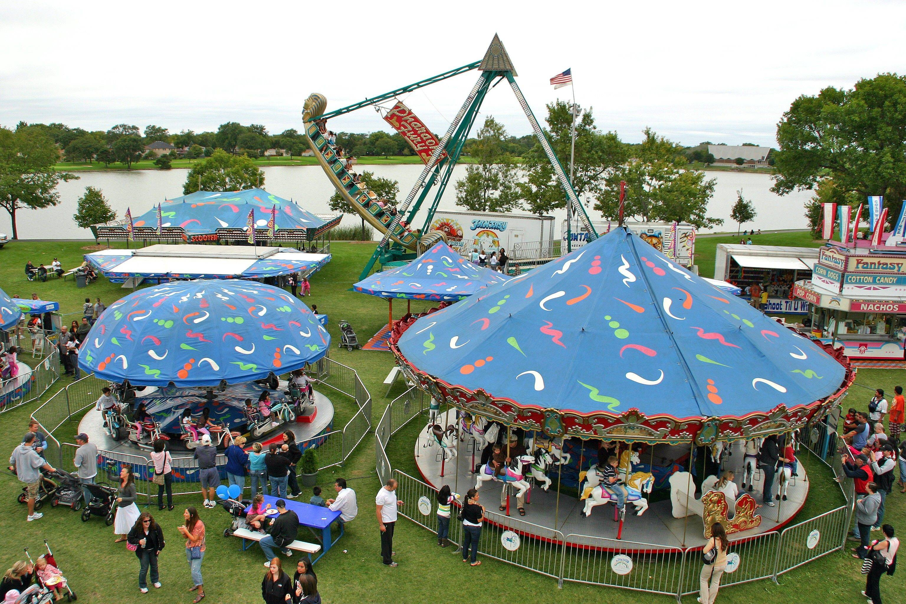 Fall Fest 2011 features a full carnival with a 55-foot Ferris wheel, a kids midway, rides, booths, games and food.