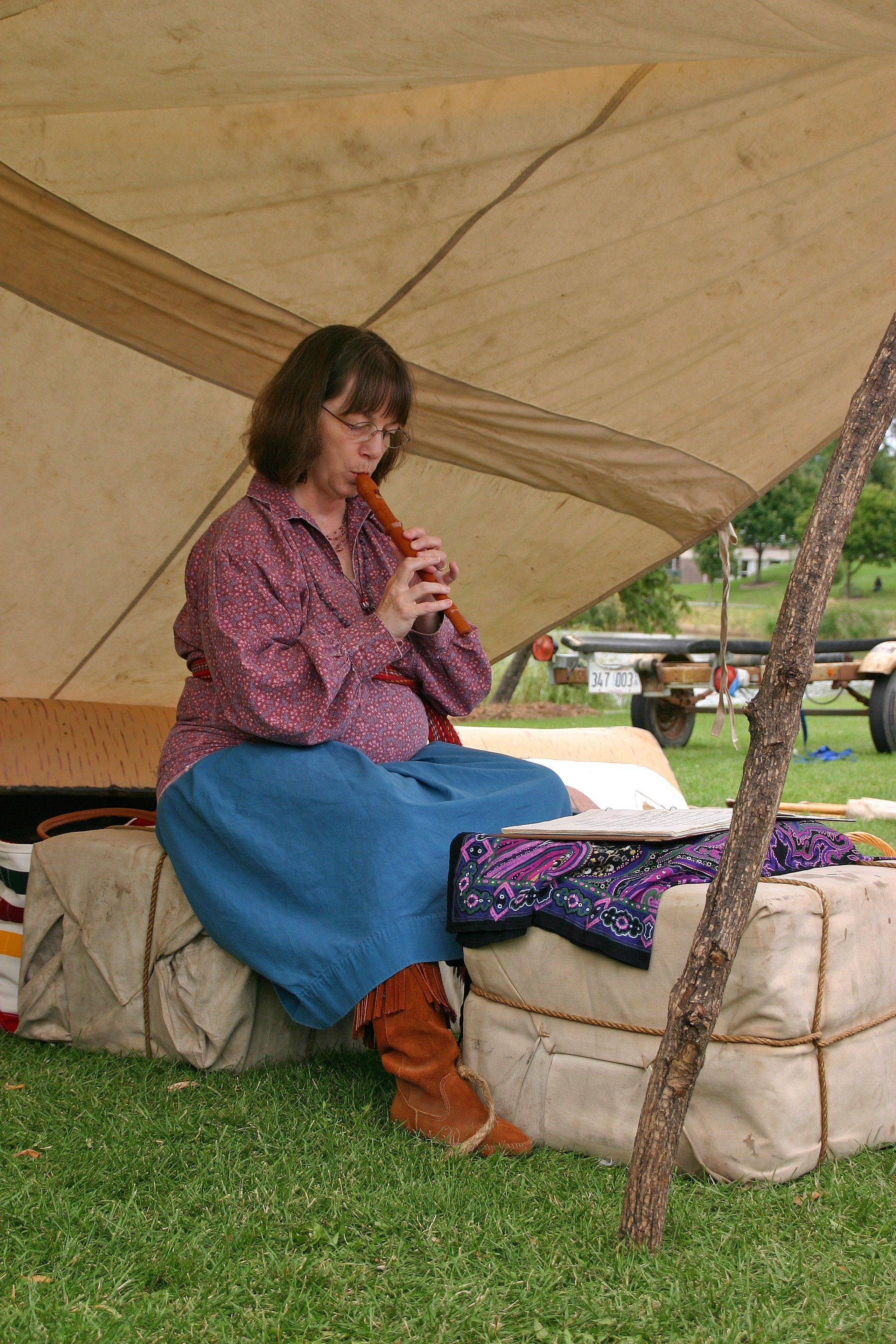 Costumed interpreters in the Country Fair Tent will demonstrate early American crafts and trades.