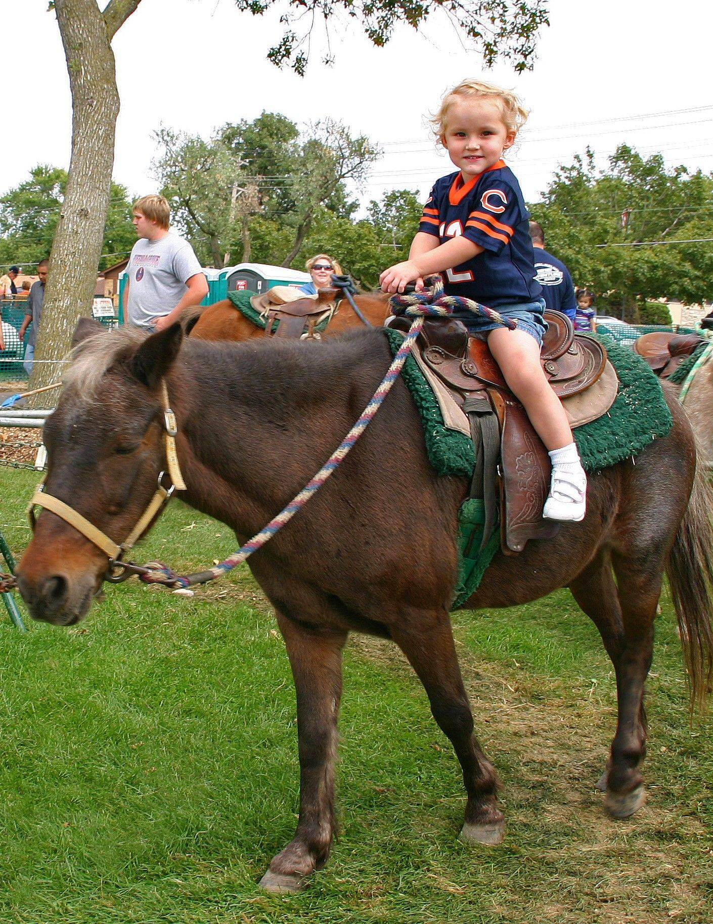 Kidzone! has arts and crafts and face painting, as well as pony rides, entertainment and a hay maze.