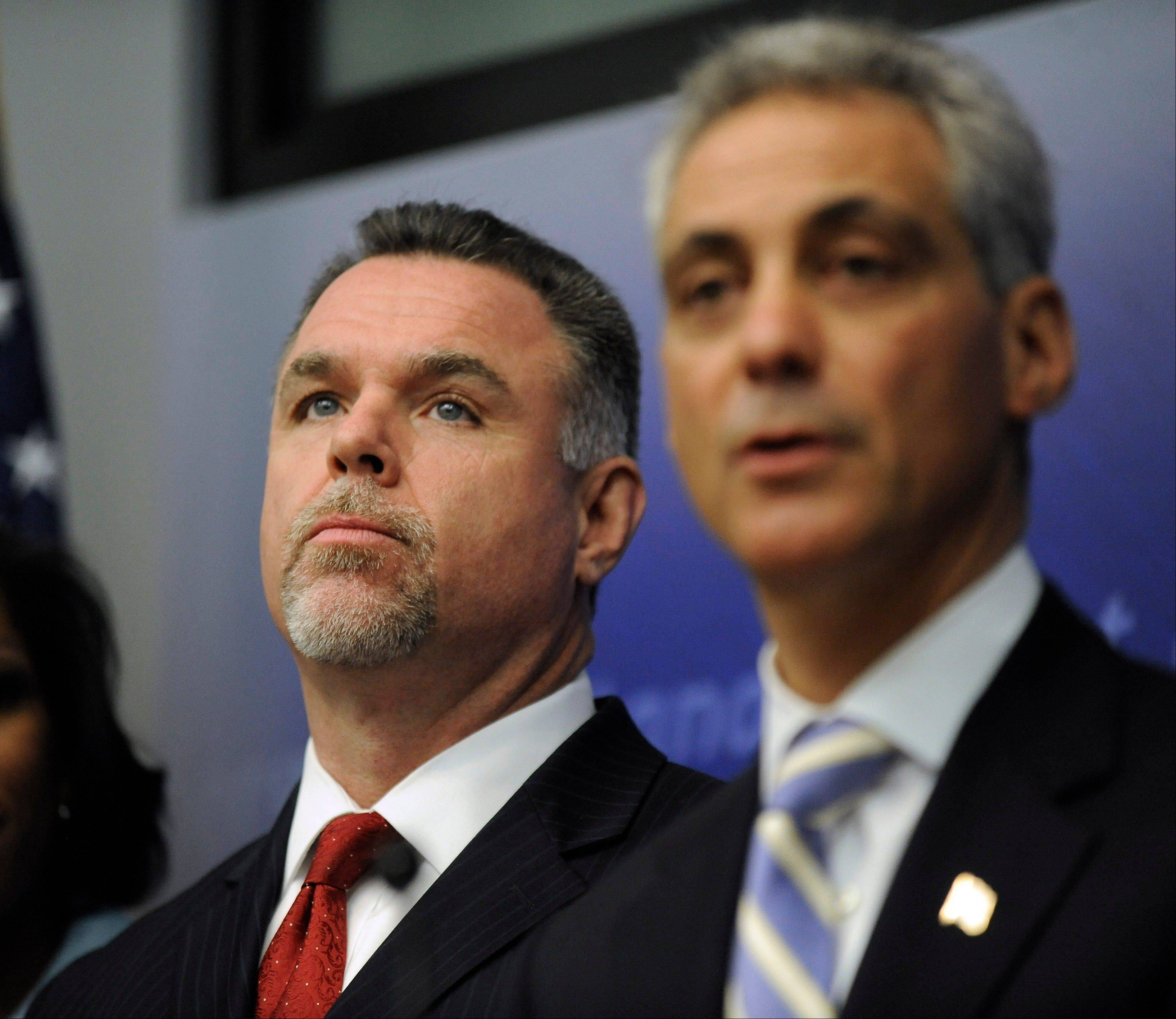 Mayor Rahm Emanuel and Police Superintendent Garry McCarthy announced Wednesday that 114 police officers will be reassigned to beat patrol.