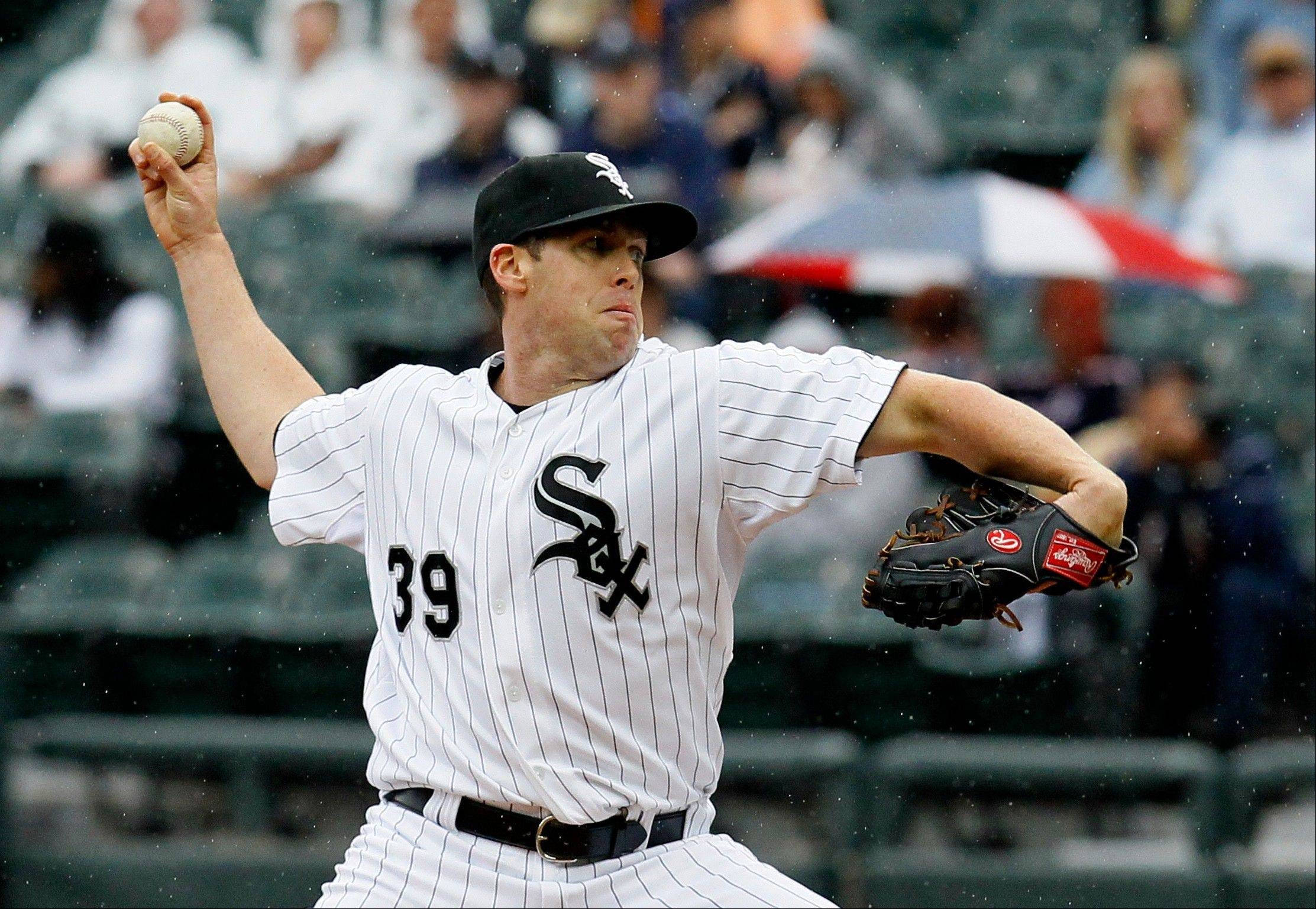 The White Sox' Dylan Axelrod allowed 2 runs on 6 hits in 6 innings with 8 strikeouts Wednesday against the Tigers in his first major-league start.