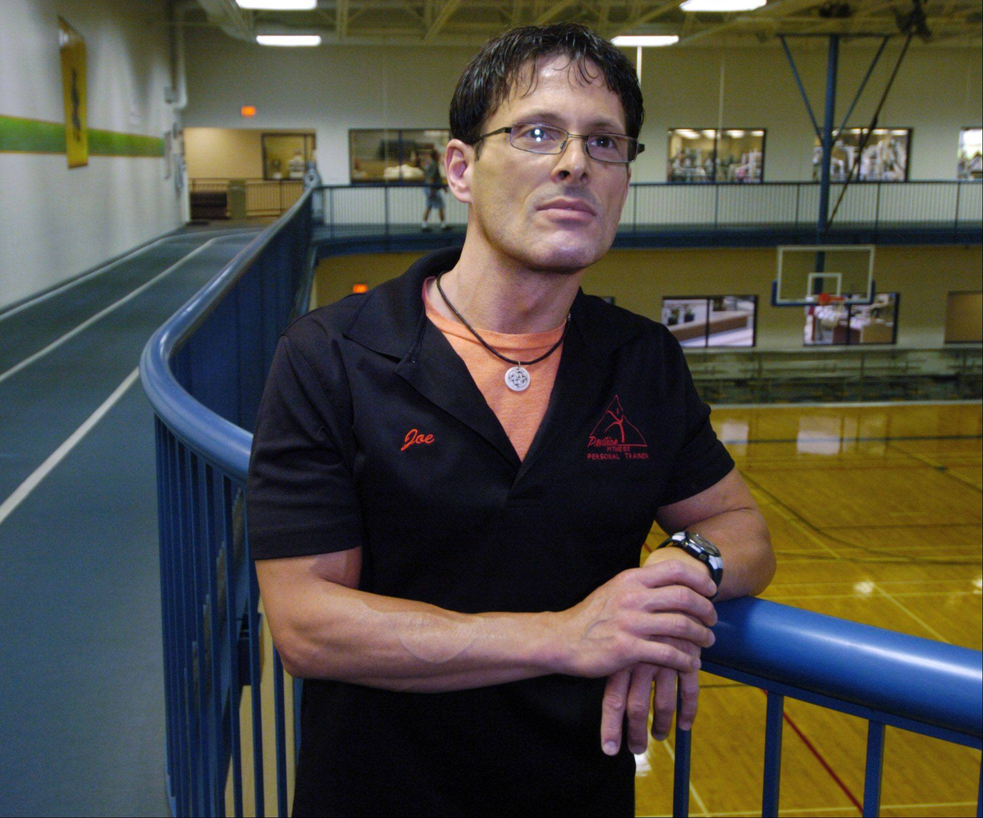 Joe Pignone, a master personal trainer at the Pavilion Fitness Club in Elk Grove Village, saved the life of a man who had collapsed Saturday on the facility's indoor track. It is the second time in two years Pignone is being credited with saving a club member's life.