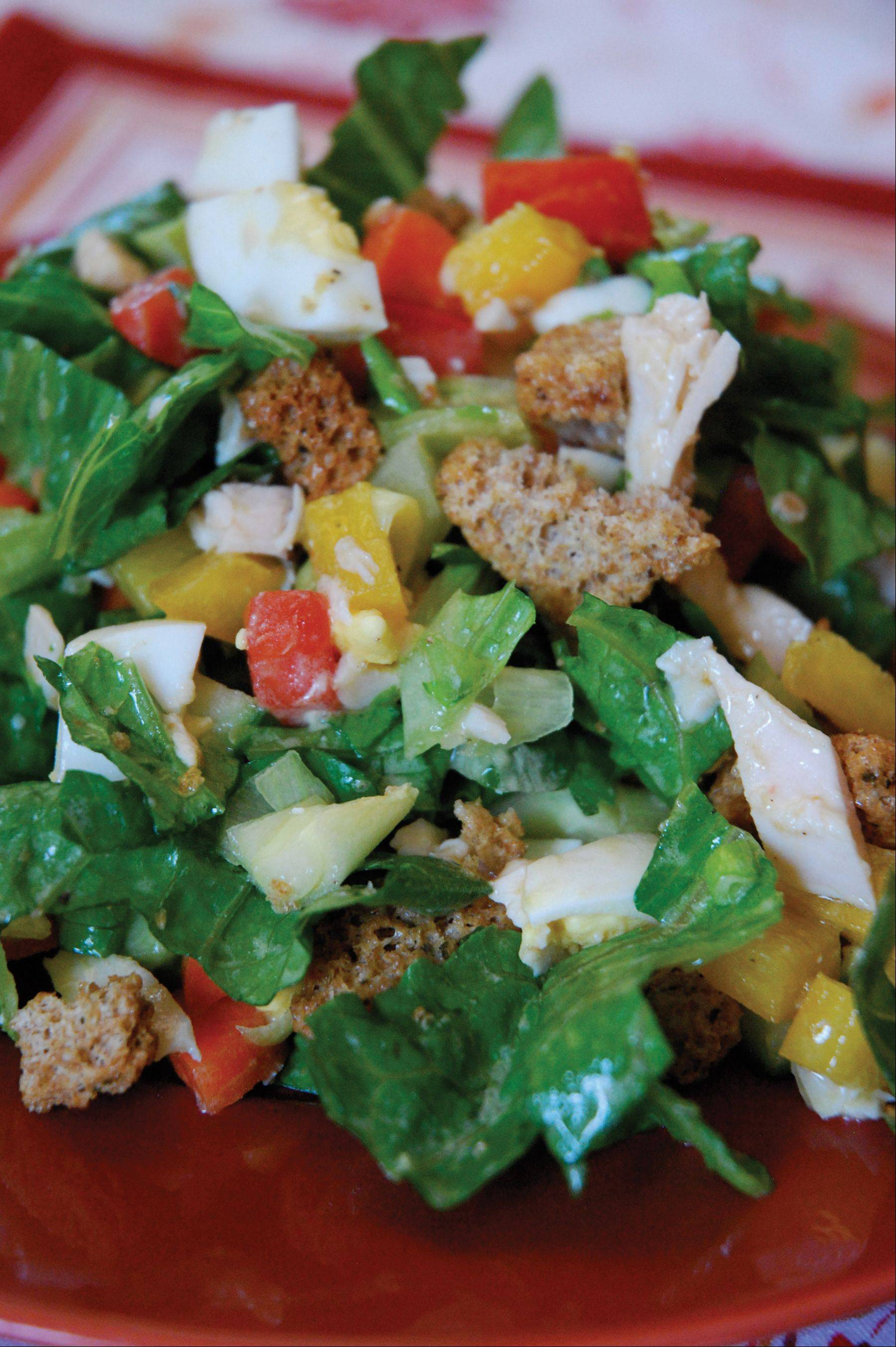 Alicia Ross/Desperation Dinners It doesn�t matter which comes first, the chicken or the egg, when gobbling up this lean protein salad.