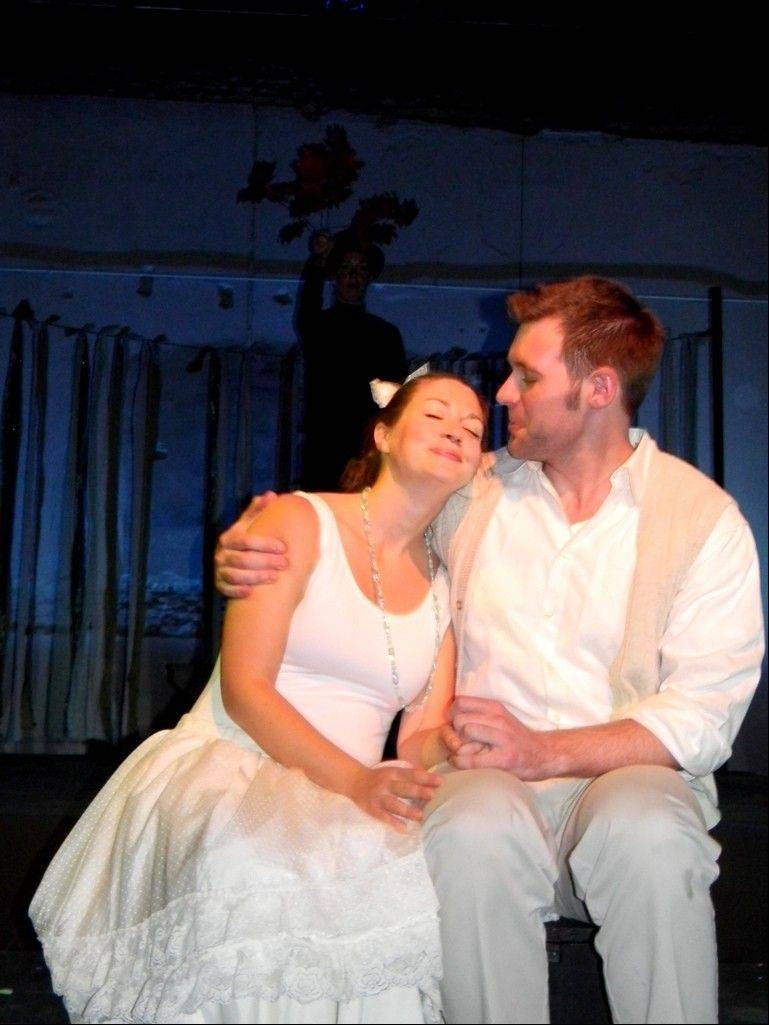 "Amy Steele and Greg Zawada play the naive and fanciful couple whose love is tested in Steel Beam Theatre's production of ""The Fantasticks."""
