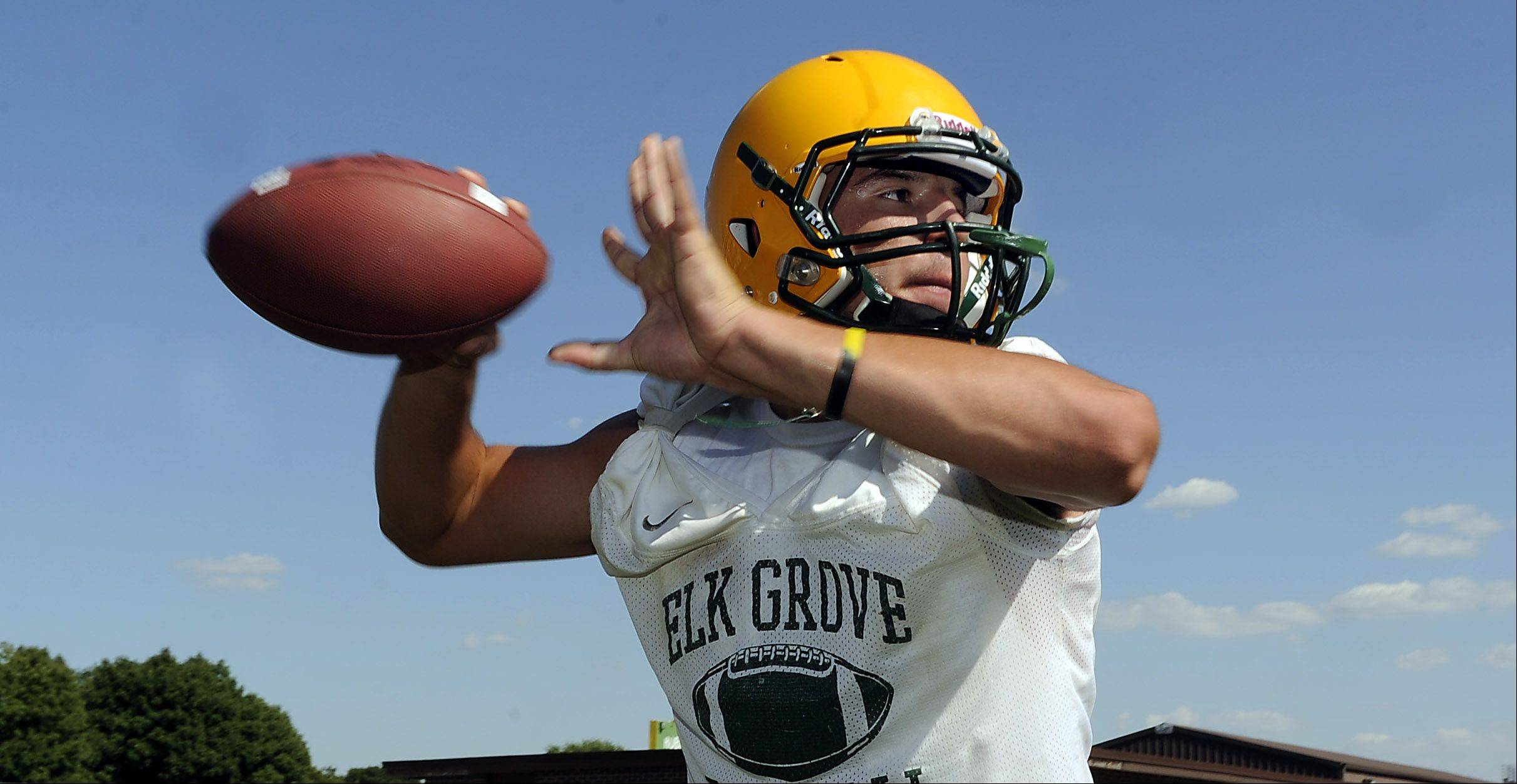 Elk Grove senior Dejan Basara has improved his passing in his first year as a starting varsity quarterback.