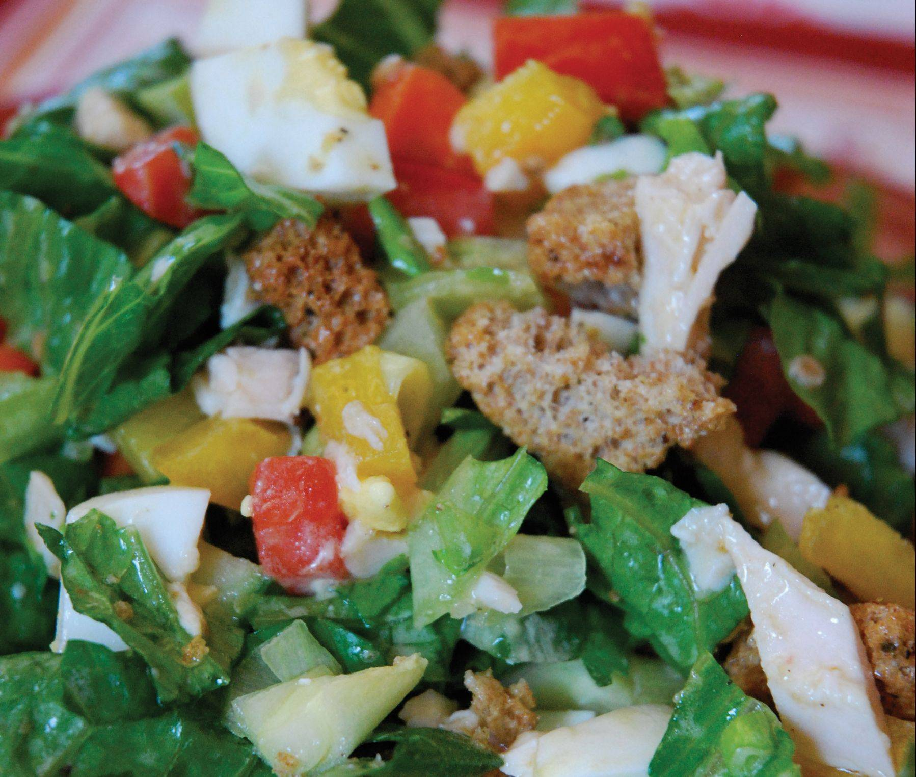 It doesn't matter which comes first, the chicken or the egg, when gobbling up this lean protein salad.