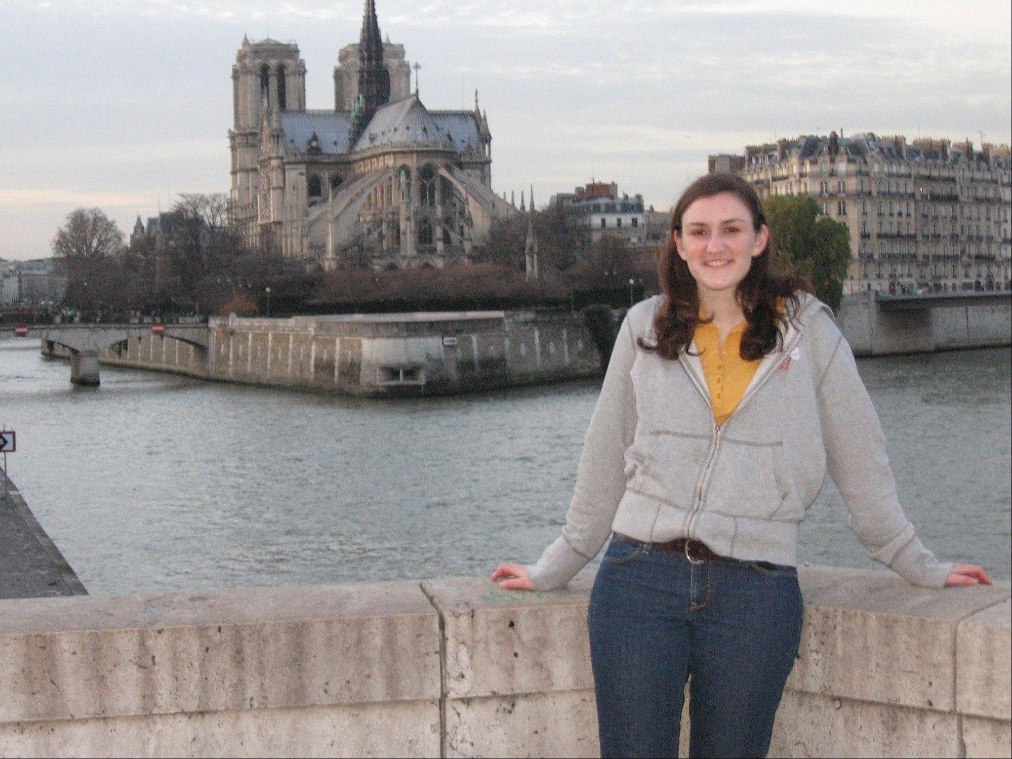Claire Reising will work as a teaching assistant in Mons, Belgium, just outside of Brussels.