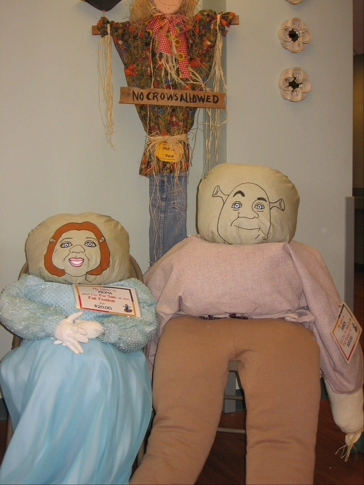 DuPage Convalescent Center's Fall Festival features scarecrows and crafts that residents make.