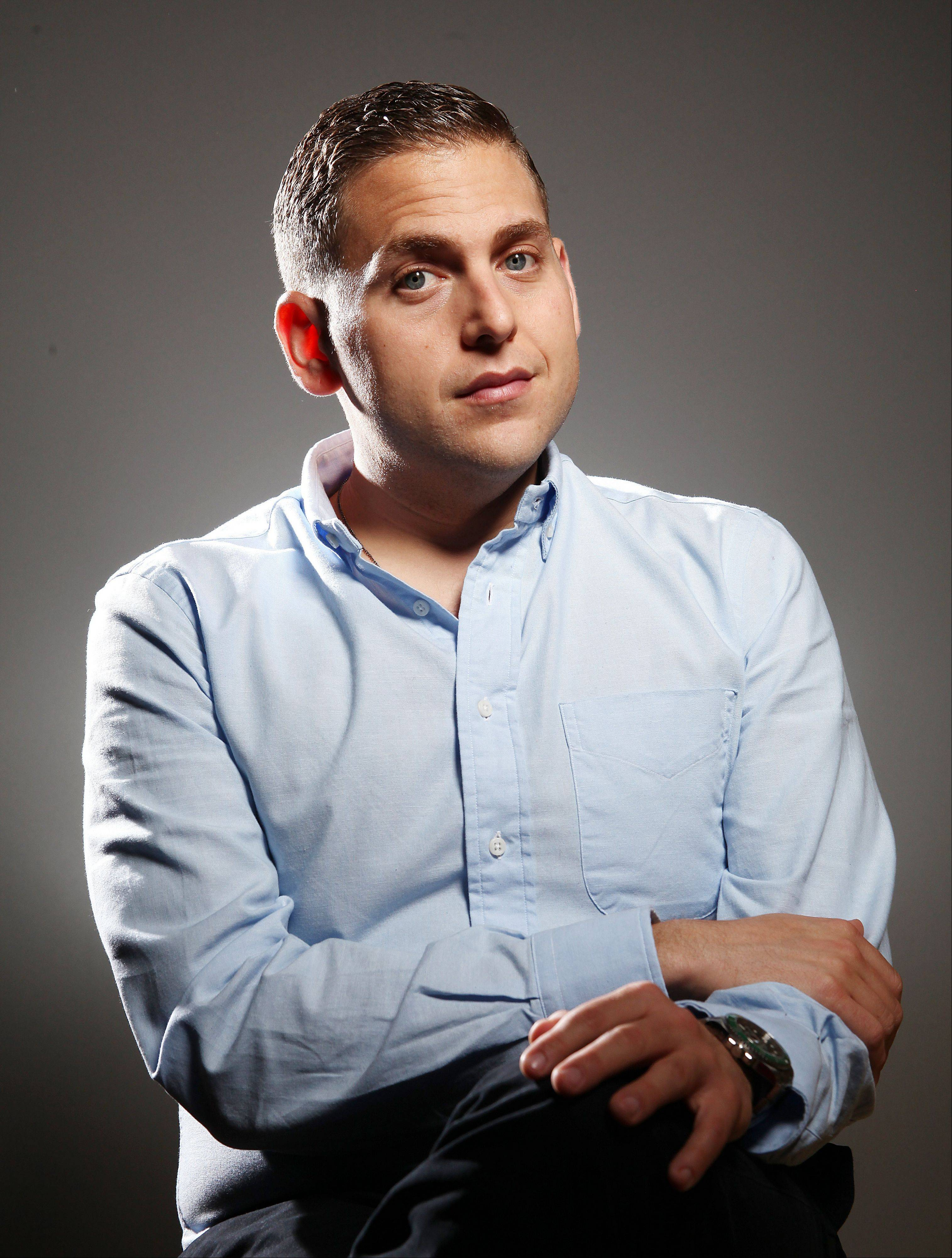 "Actor Jonah Hill co-stars with Brad Pitt in the upcoming film ""Moneyball."""