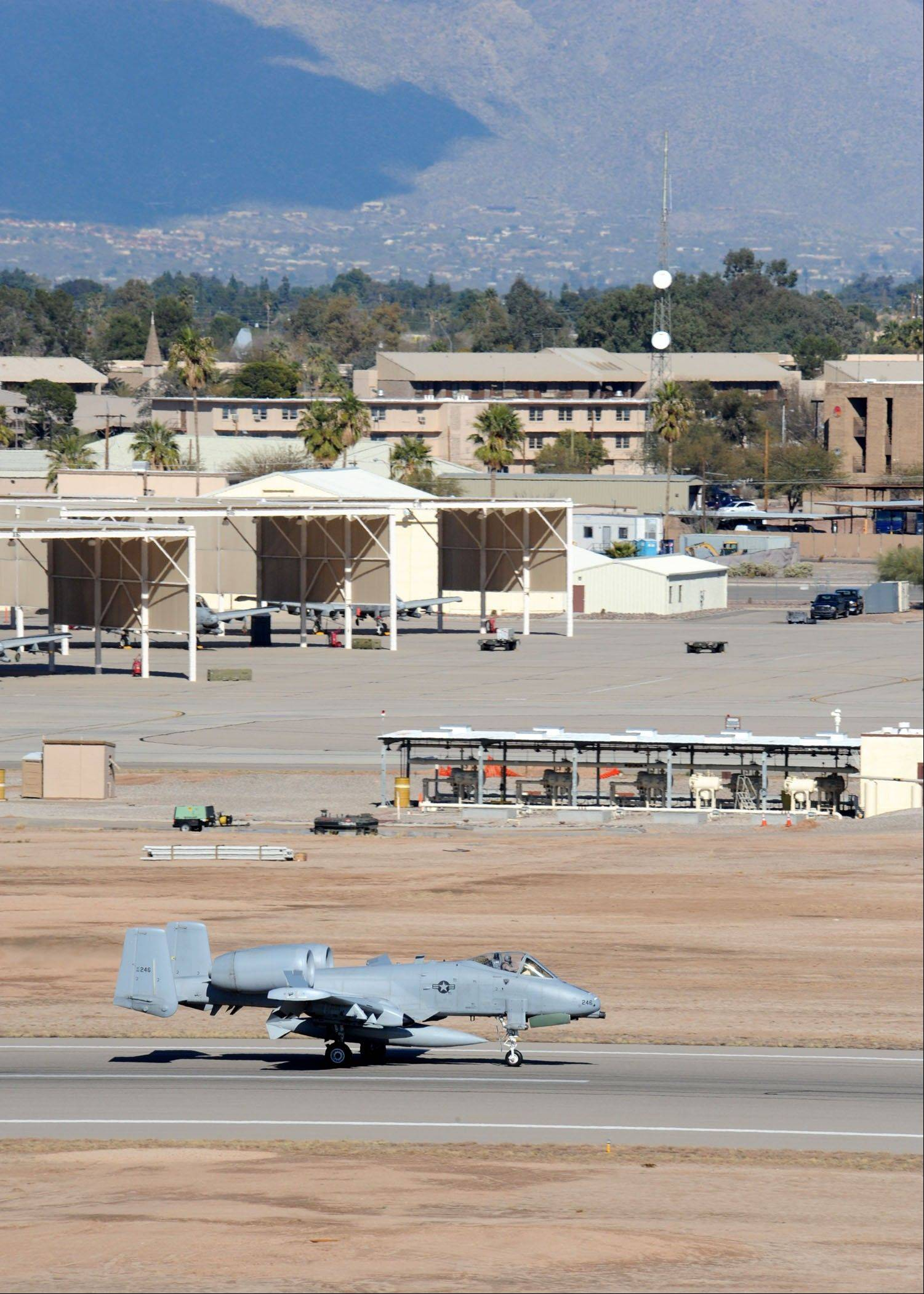 Davis-Monthan Air Force Base near Tucson, Ariz. The base was on lockdown Friday afternoon.