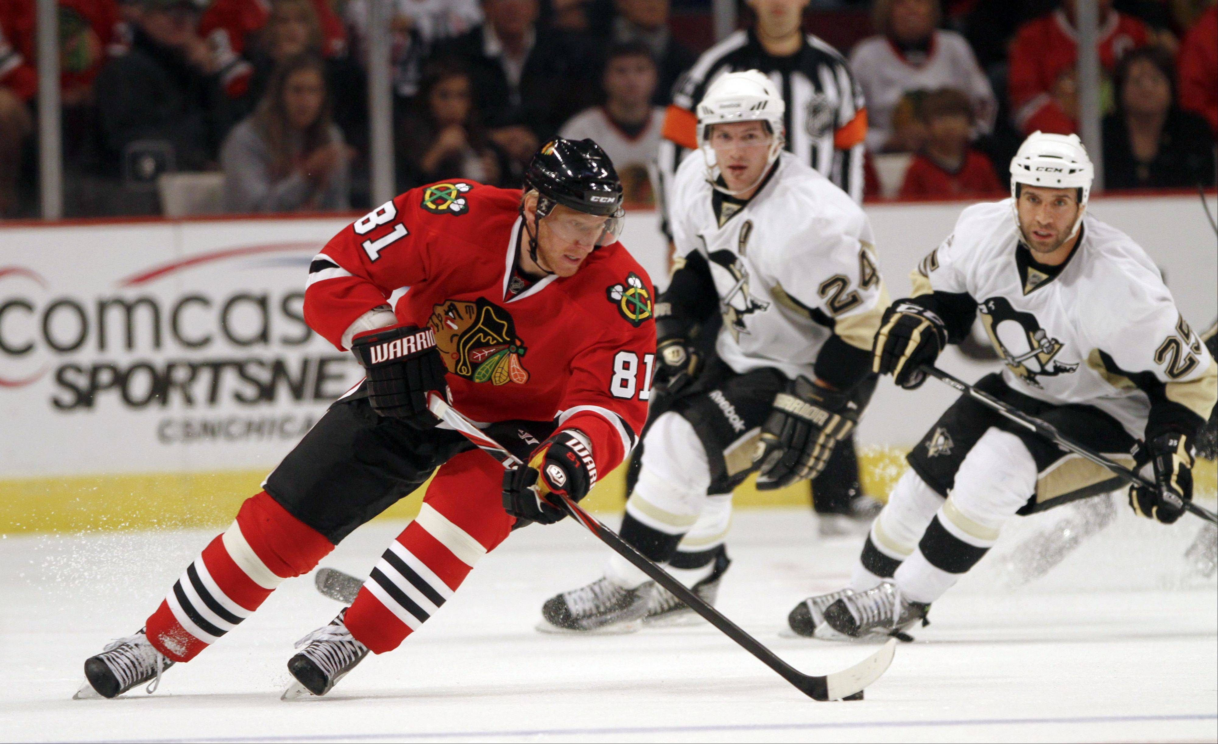 Marian Hossa has been excused from Blackhawks training camp. He is in Slovakia, mourning the death of Pavol Demitra.