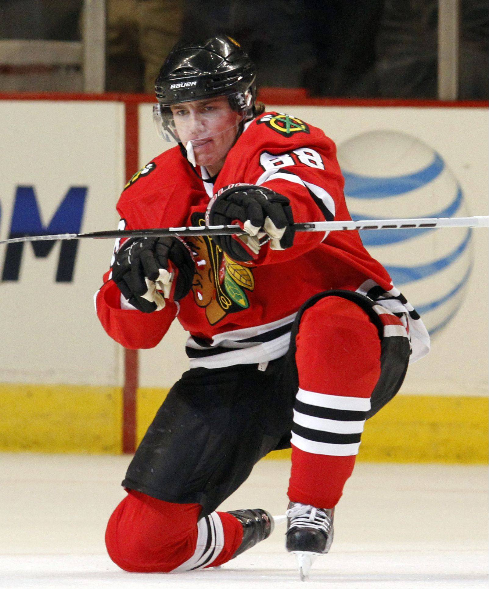 Although he's a nearly point-a-game scores for the Blackhawks, winger Patrick Kane says he wants to focus on being more consistant and improving all facets of his game.