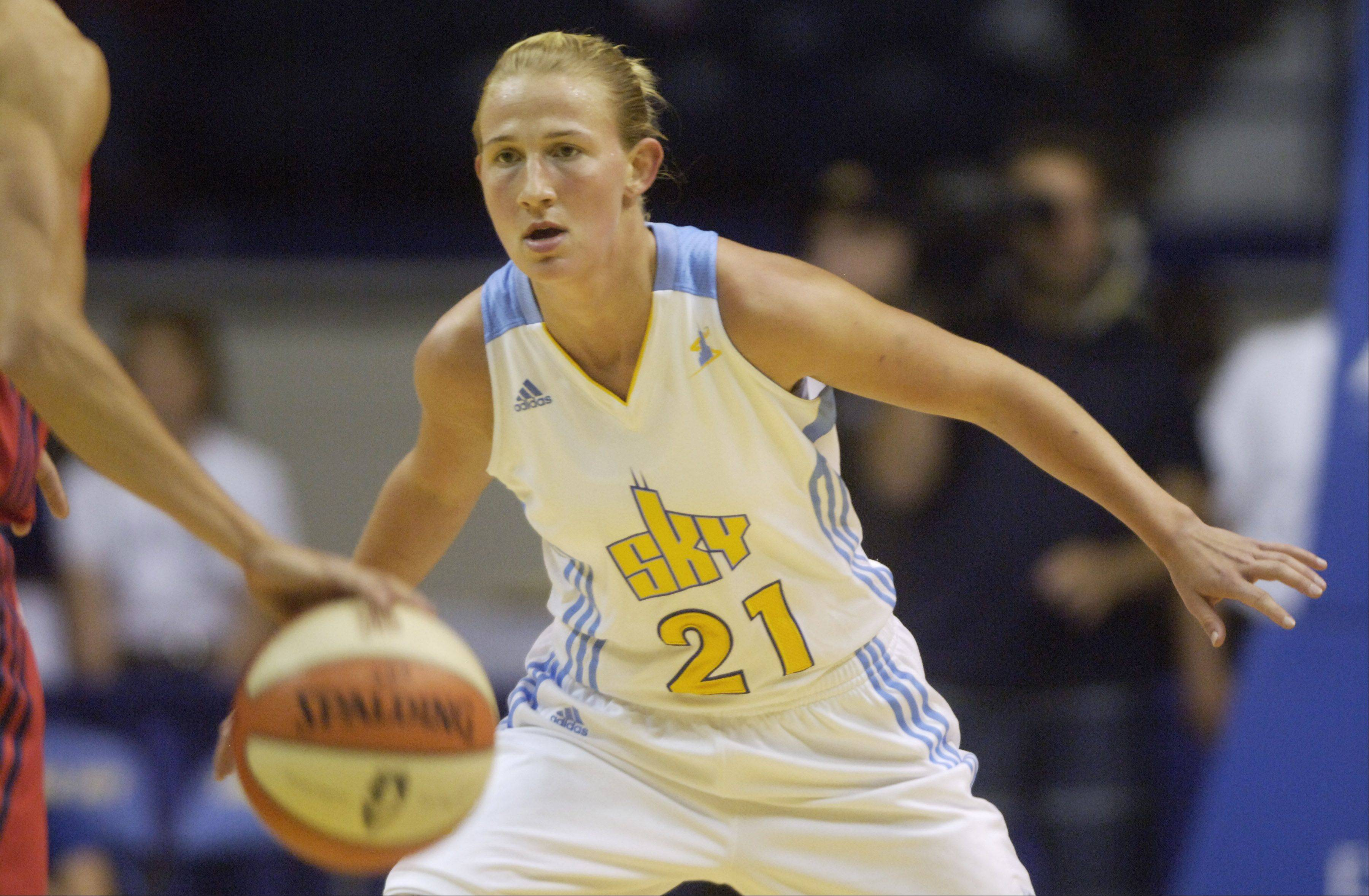 Courtney Vandersloot of the Chicago Sky was voted by WNBA coaches to the 2011 rookie team on Friday.