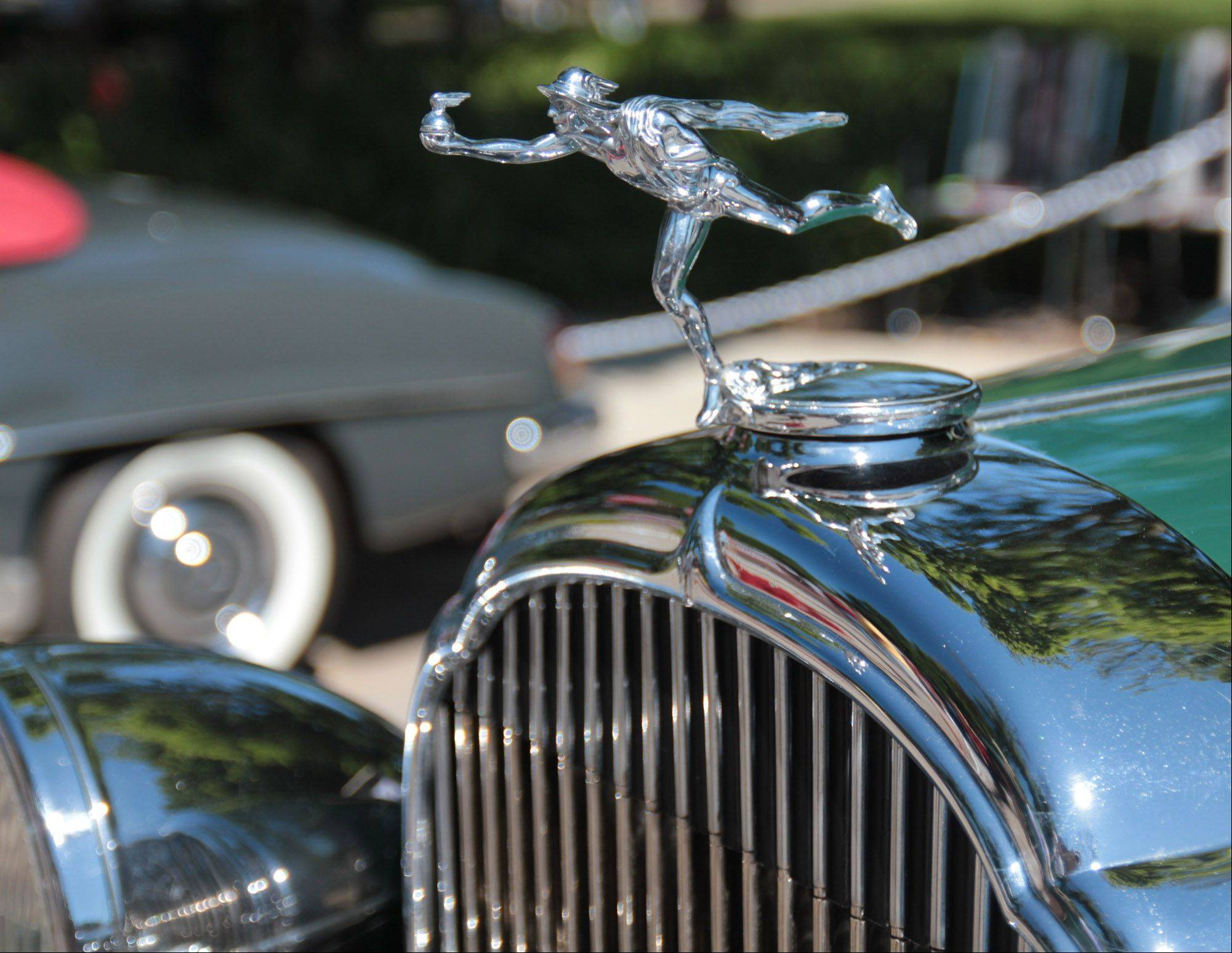 A photo of an auto detail taken at the Geneva Concours d'Elegance in Geneva, IL.