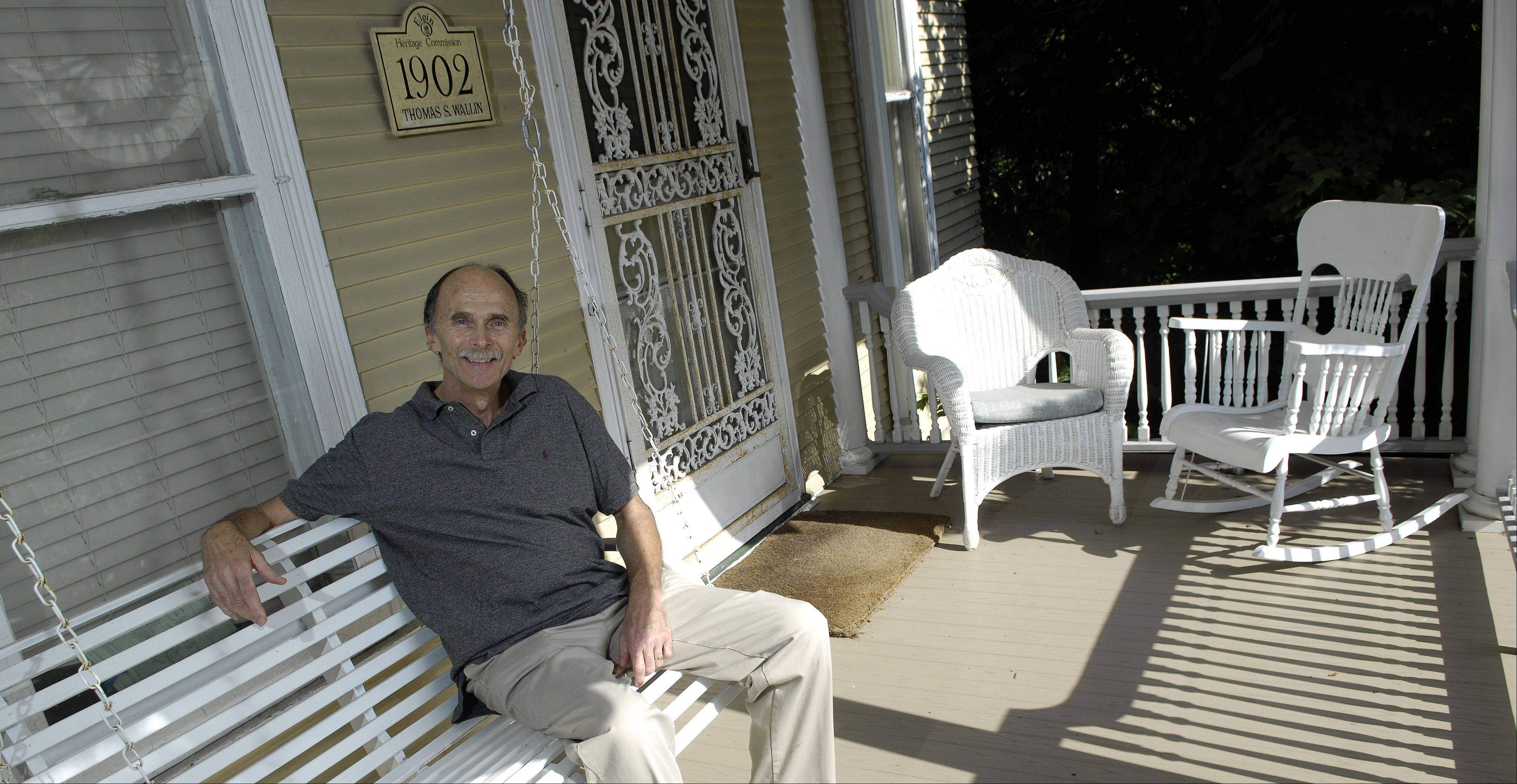 With the help of an Elgin historical grant, Decker will complete the two-phase porch project this fall.