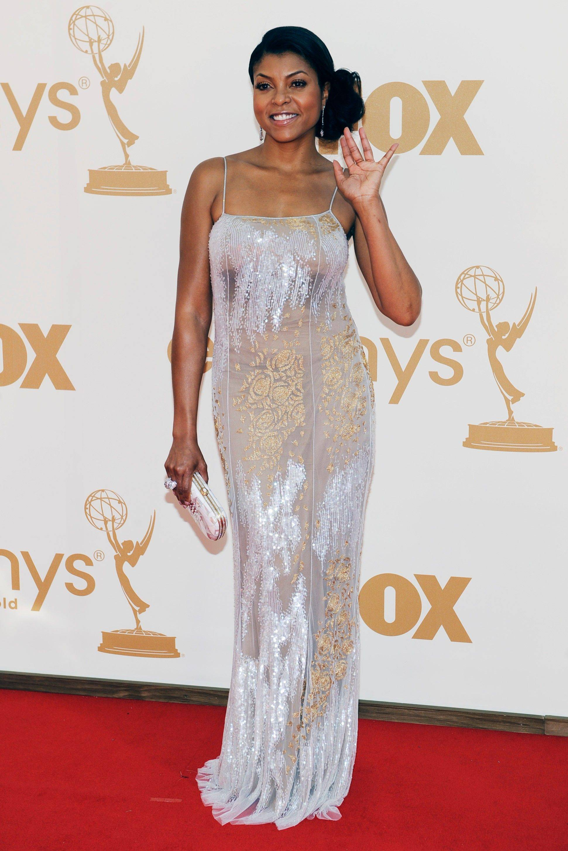 The usually best dressed Taraji P. Henson is overwhelmed by this ill fitting gown.