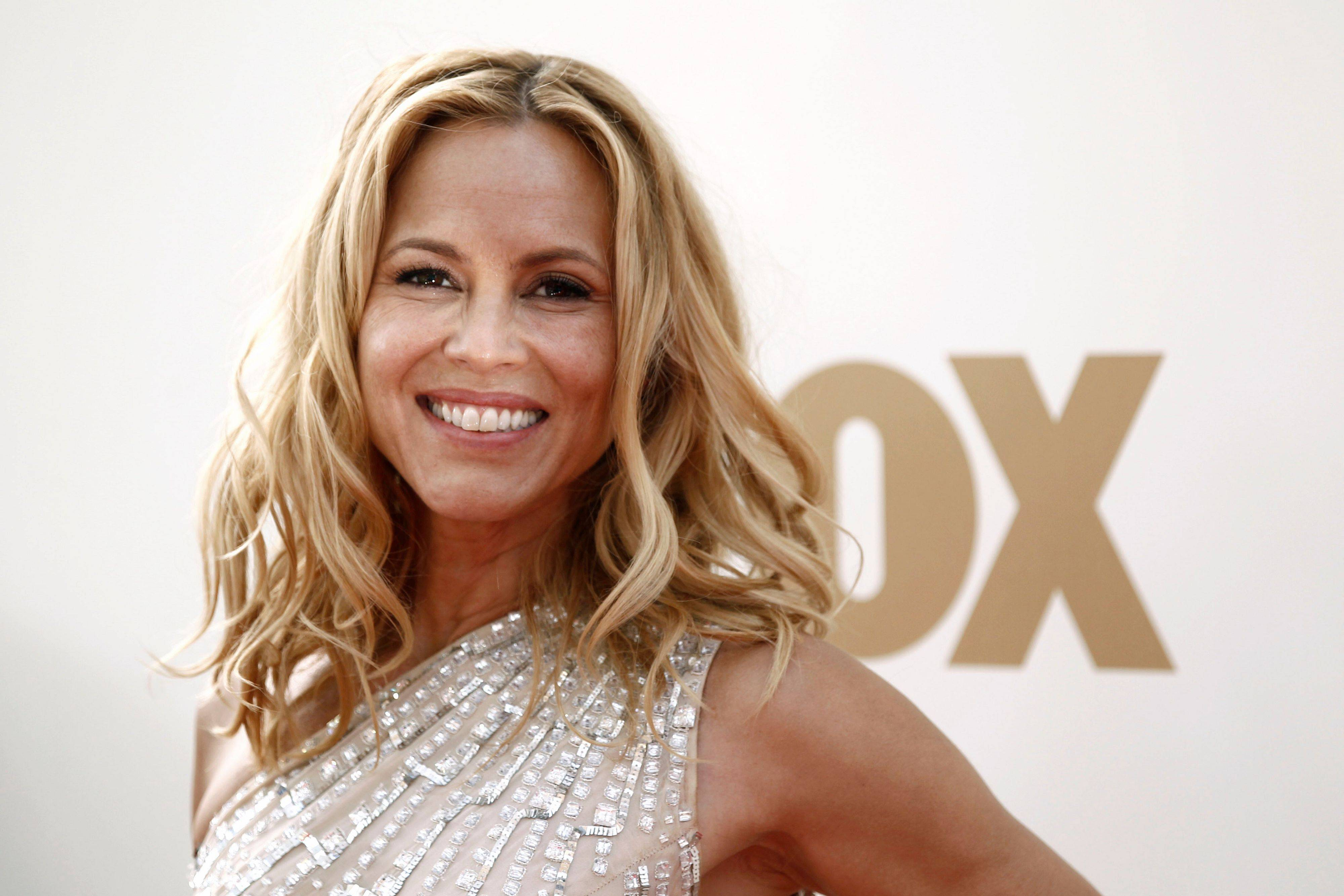"""Prime Suspect"" star Maria Bello shines on the red carpet Sunday night."