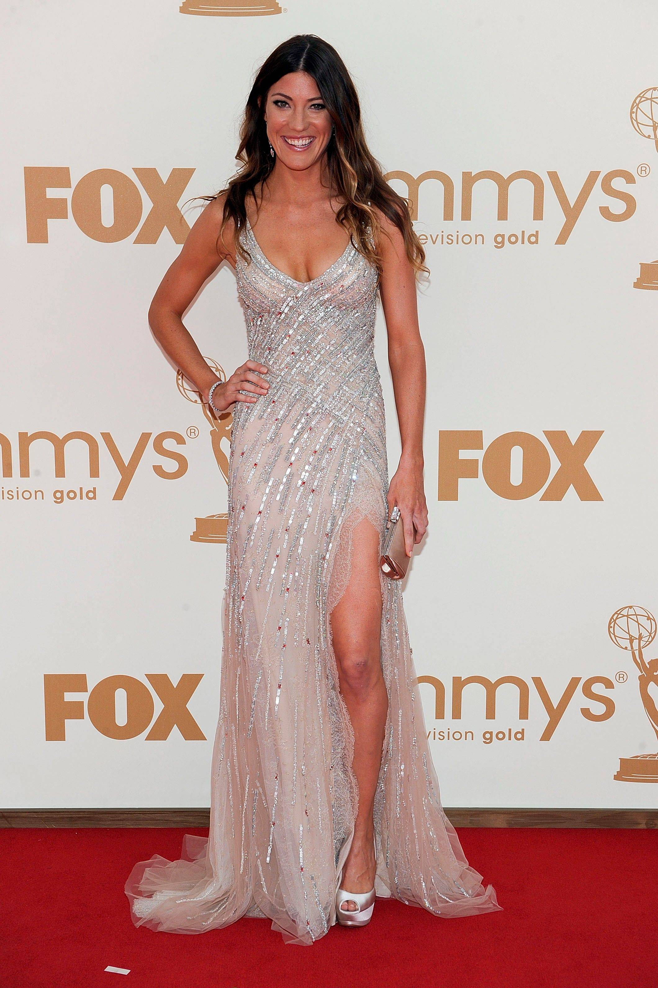 """Dexter"" actress Jennifer Carpenter stayed on trend with this glittery number."