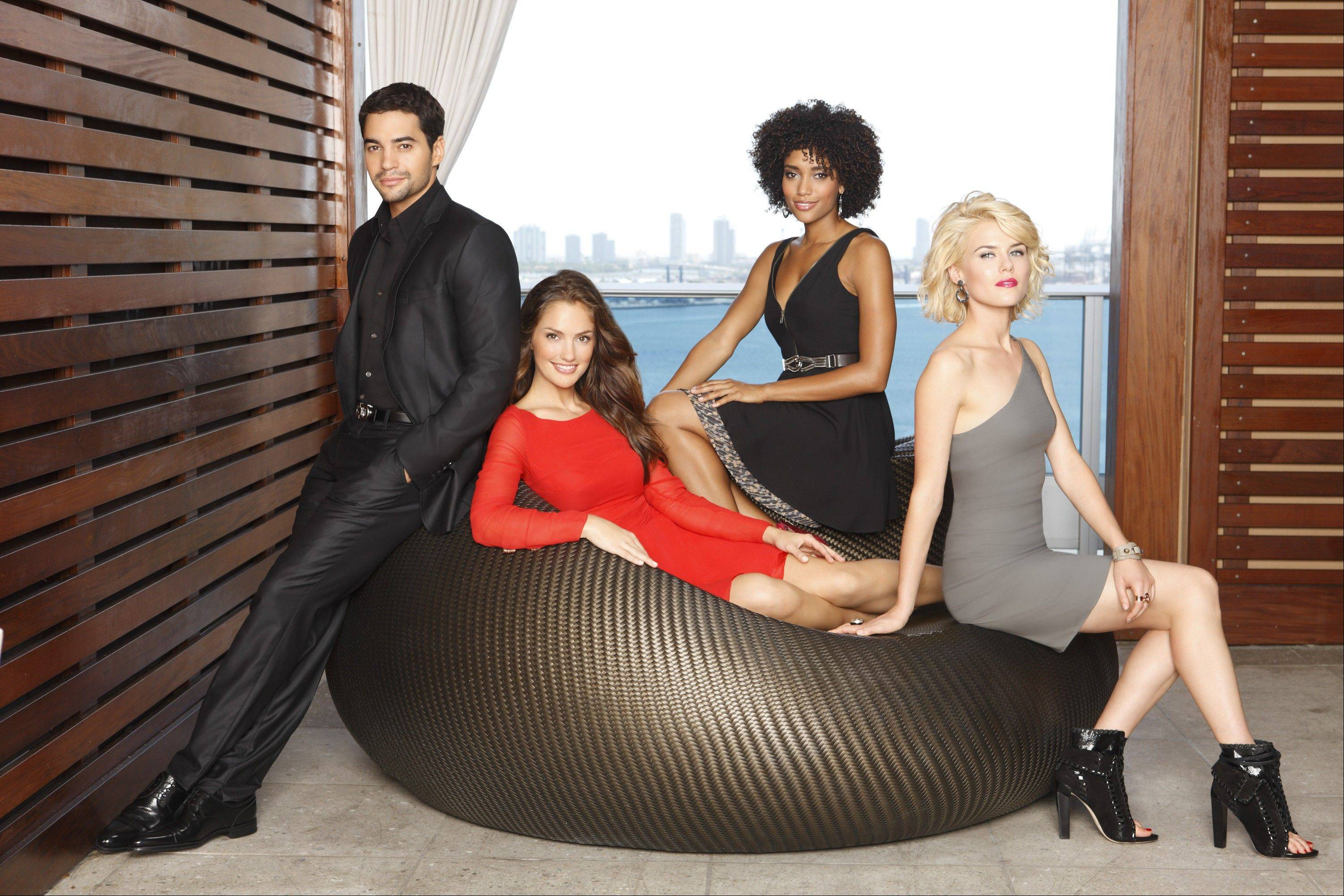 "ABC's ""Charlie's Angels"" stars Ramon Rodriguez as John Bosley, Minka Kelly as Eve French, Annie Ilonzeh as Kate Prince and Rachael Taylor as Abby Sampson."