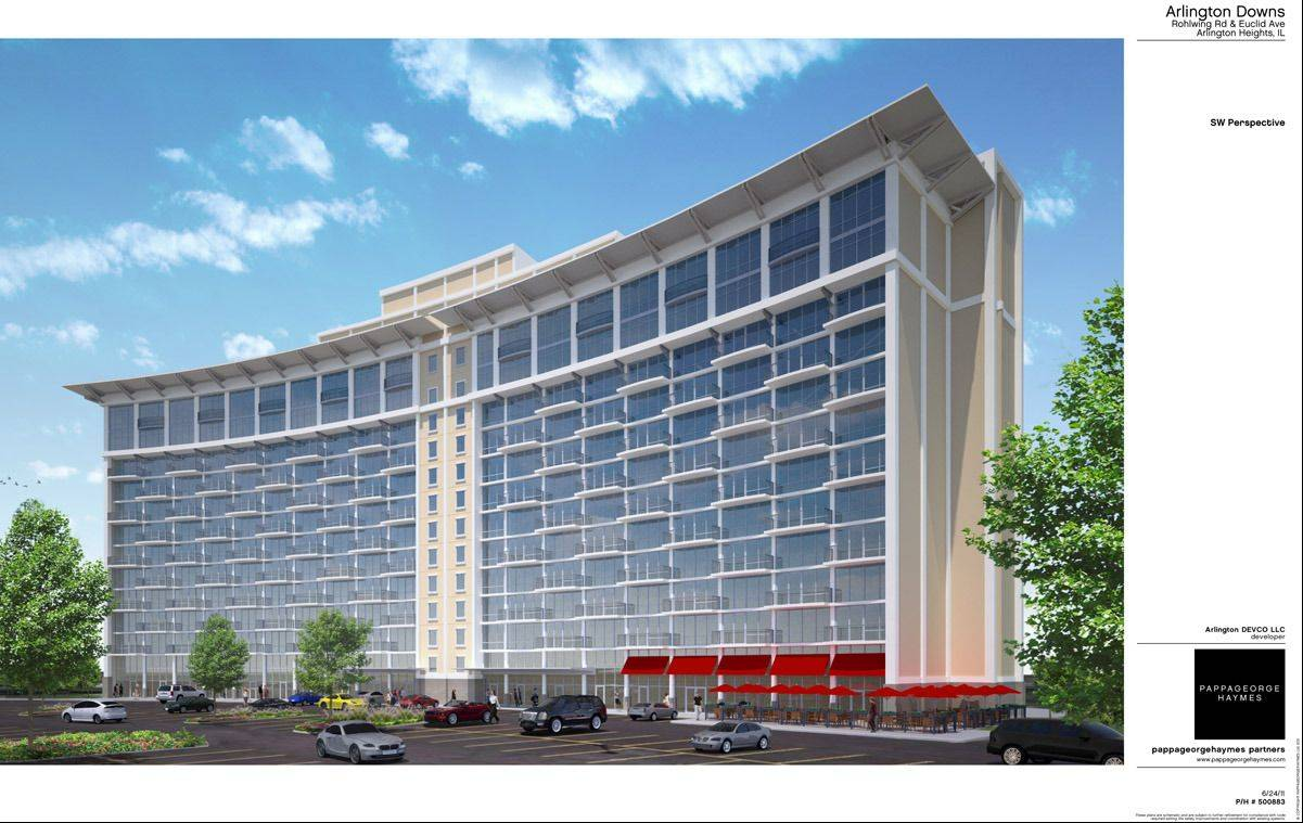 Arlington Downs' plans include luxury apartments in the former Sheraton Chicago Northwest in Arlington Heights.