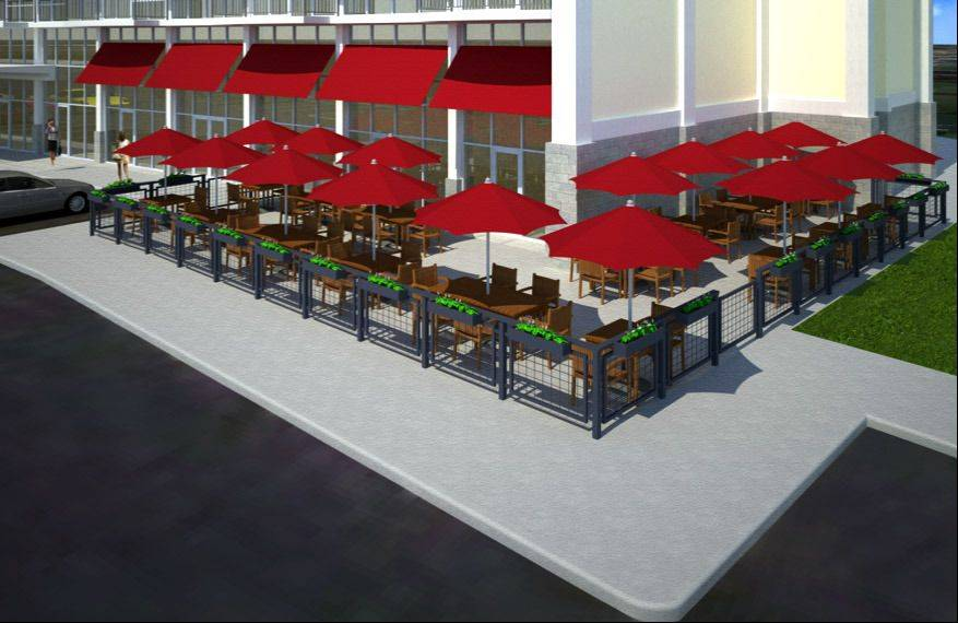 This is a rendering of what a restaurant might look like at Arlington Downs.