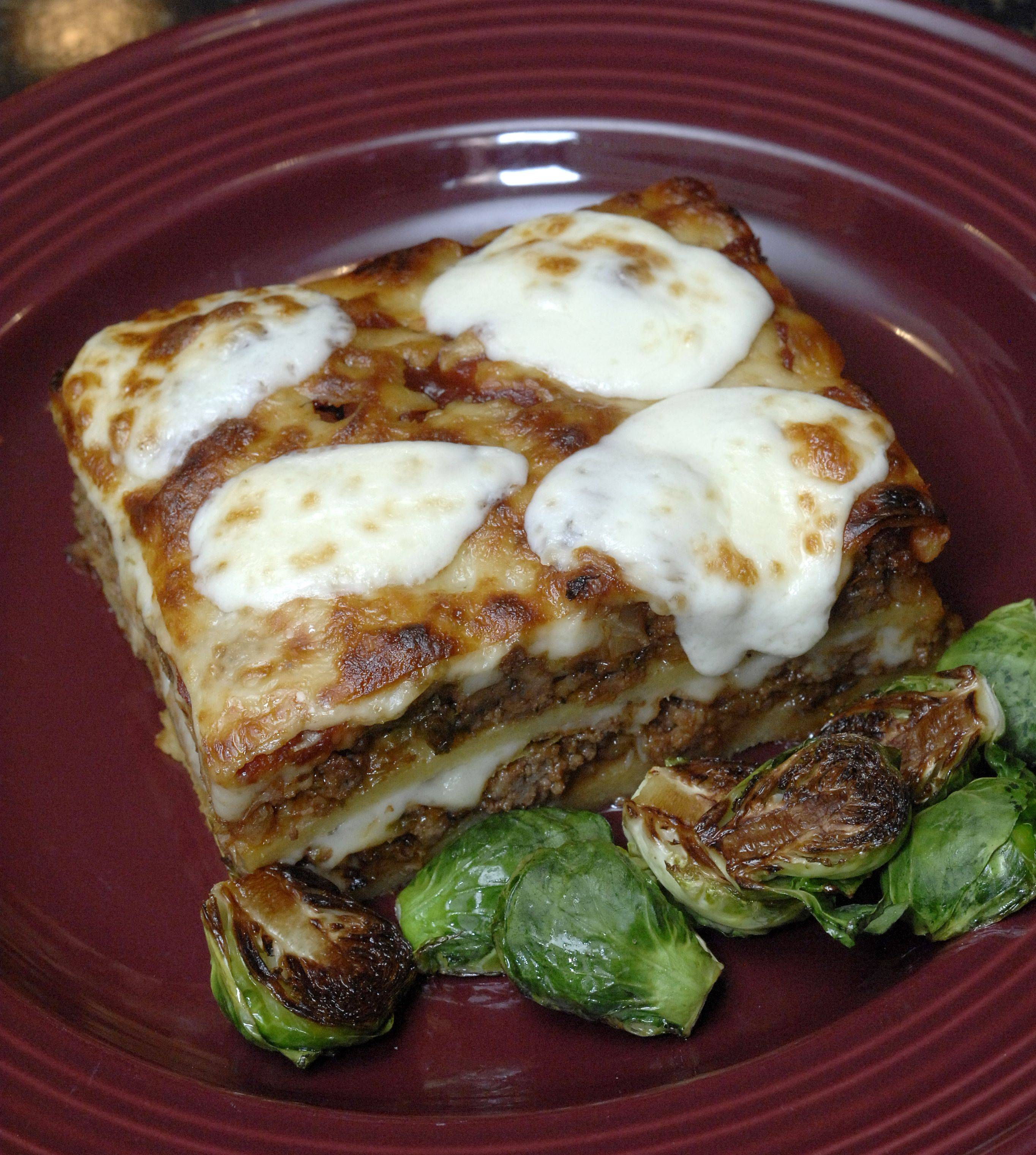 Mark Clemen of Elgin and his recipe for the Cook of the Week Challenge. He made a lasagna dish with polenta, Brussels sprouts, ground beef and barbecue sauce. Instead of lasagna noodles, Clemen used the polenta in place of noodles.
