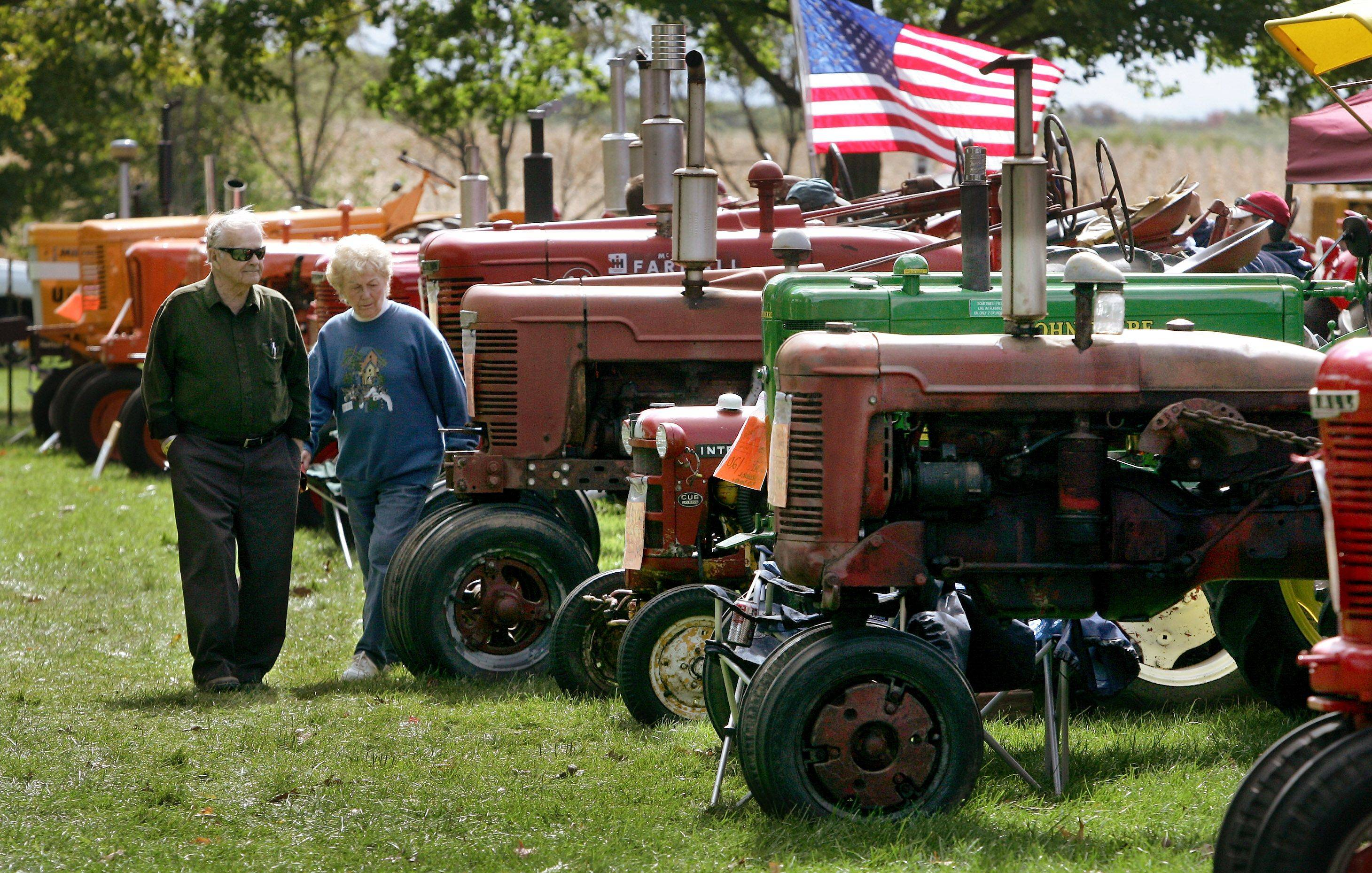 Old tractors and hundreds of other pieces of farm equipment will be on display during the Farm Heritage Festival at the Lakewood Forest Preserve near Wauconda.