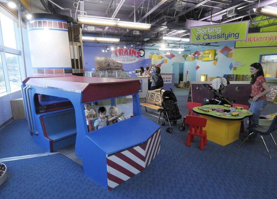 Kids Get On Board Dupage Children S Museum S Train Exhibit