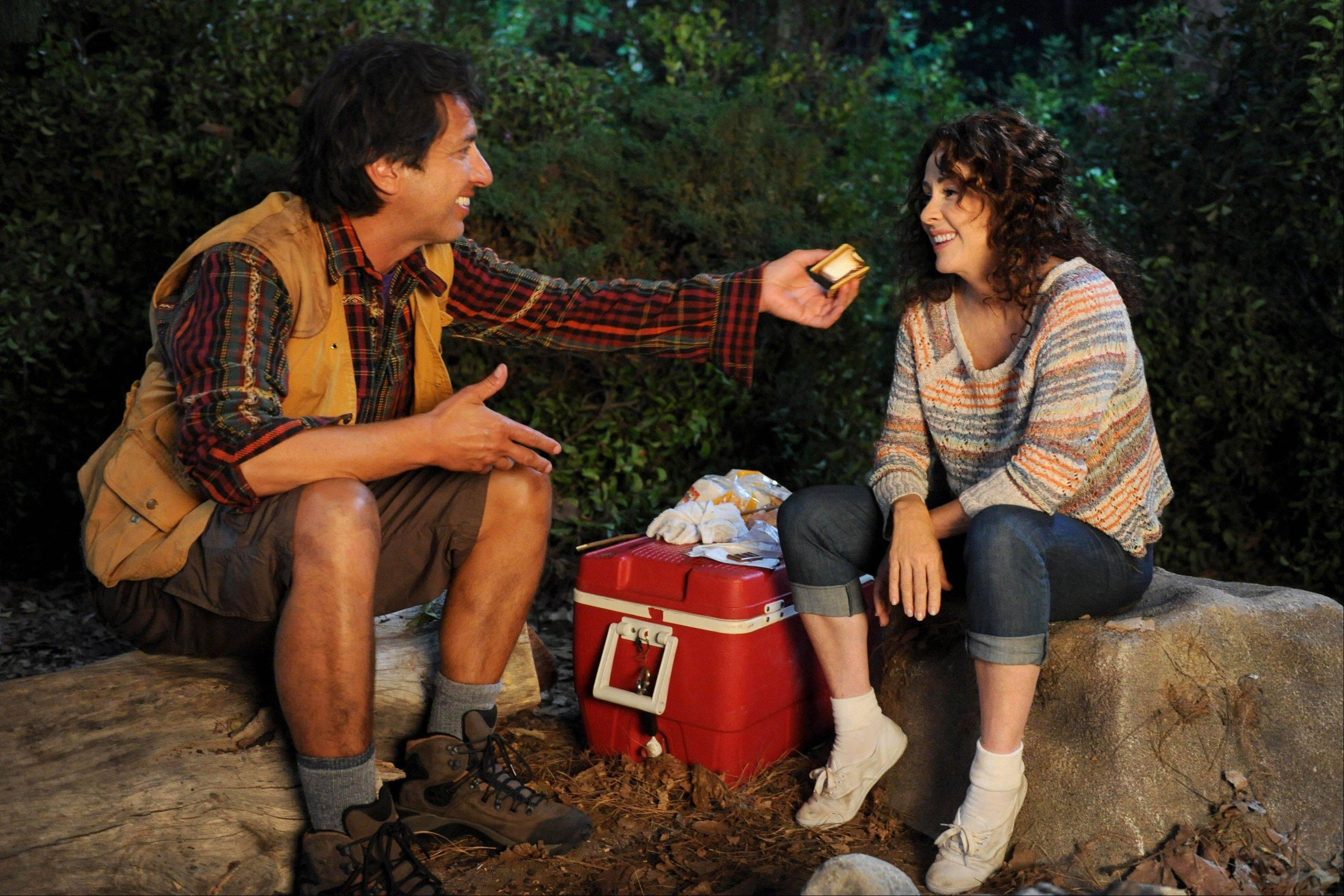 "Ray Romano, left, guest stars with Patricia Heaton in a scene from the comedy series ""The Middle."""