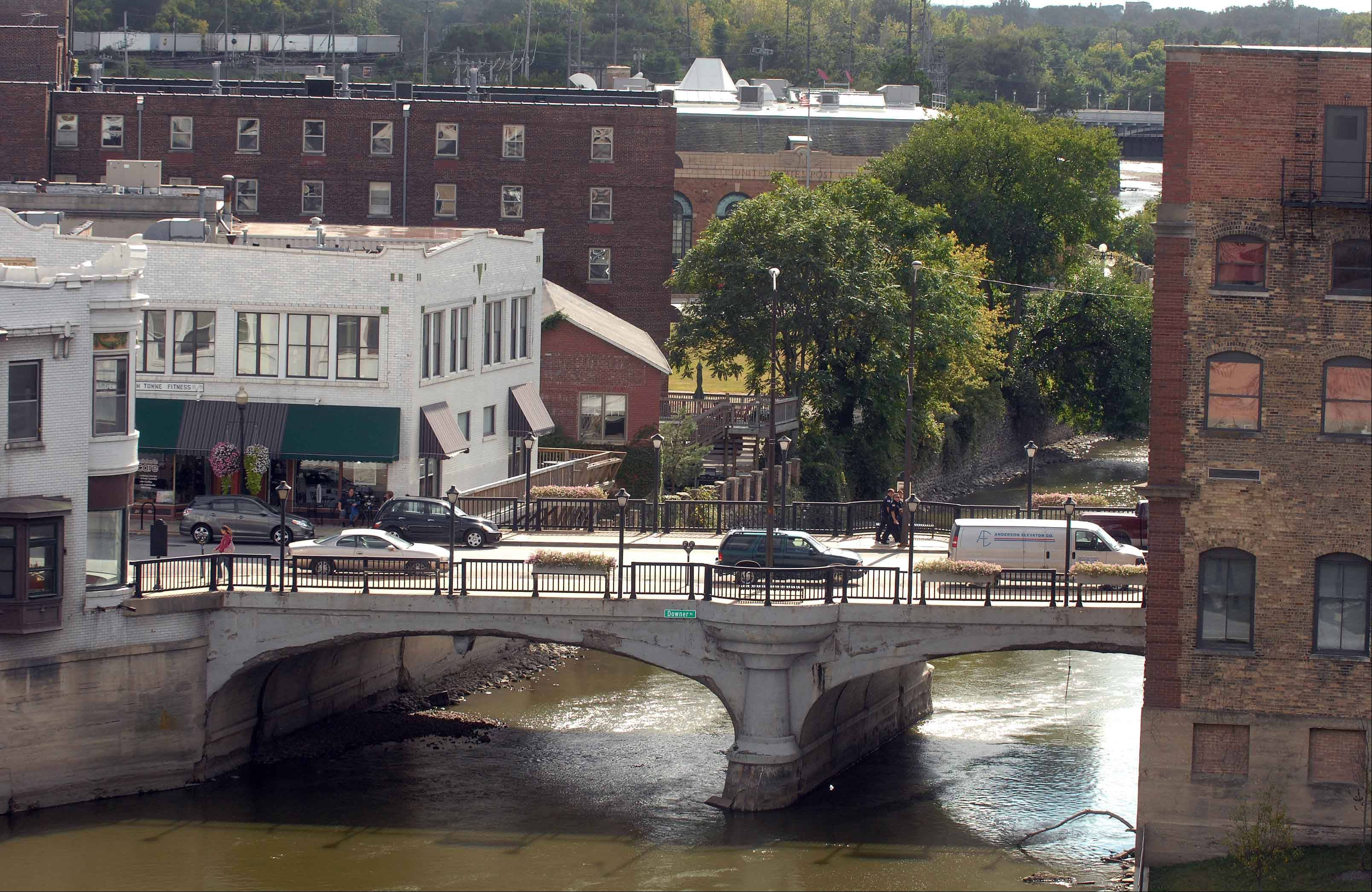 The Downer Place bridges in downtown Aurora are set to be replaced beginning in January. They originally were built in 1906.
