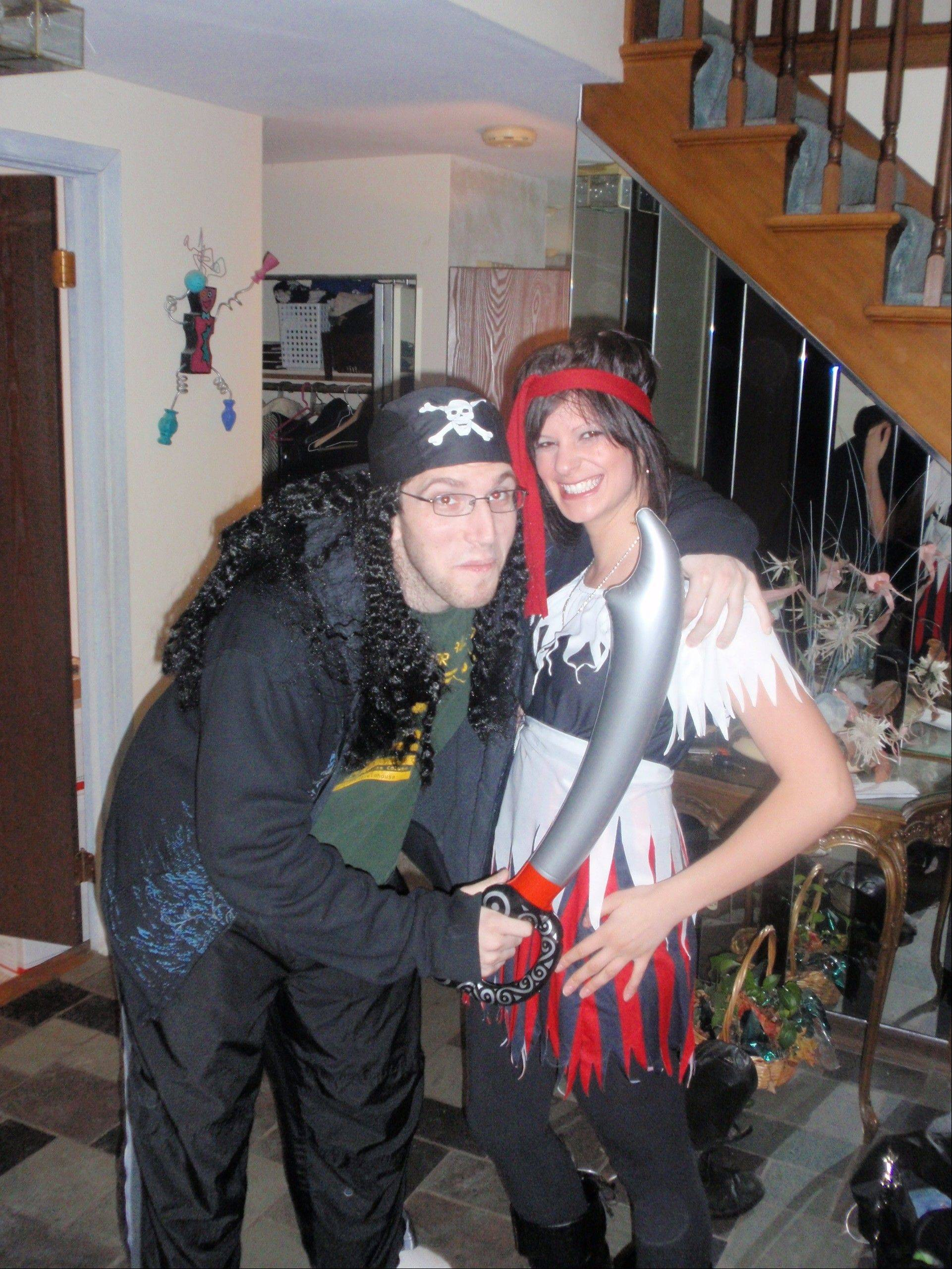 Support from family and friends helped Ben Settler through treatment for Hodgkin lymphoma. When he was recovering from chemotherapy and missing Halloween parties, his now-fiance Caren helped him don a pirate costume for a small celebration at home.