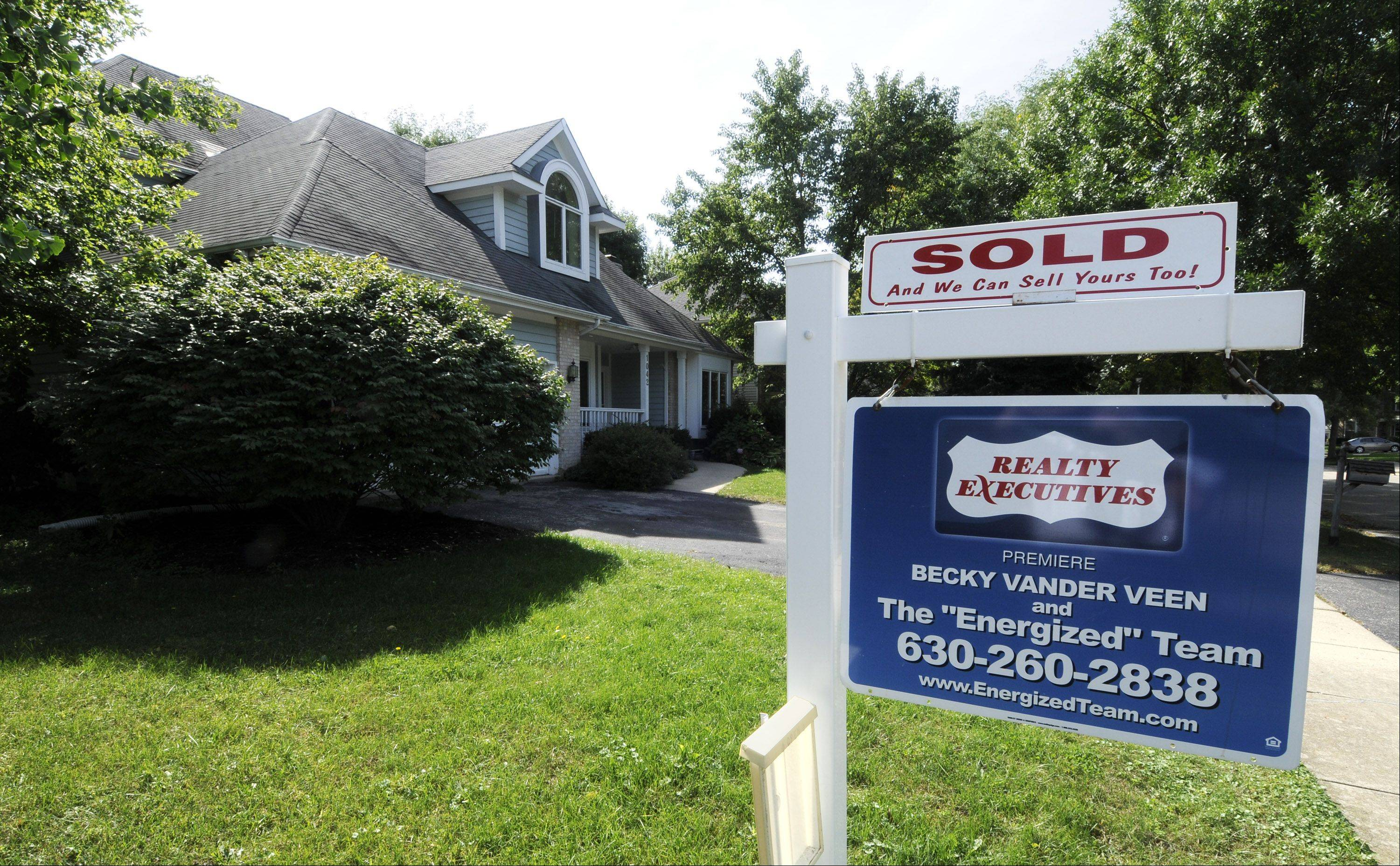 This Wheaton home is part of a spike in sales in DuPage County. In August, DuPage County saw 893 homes being sold, compared to 655 in August 2010, an increase of 36 percent.