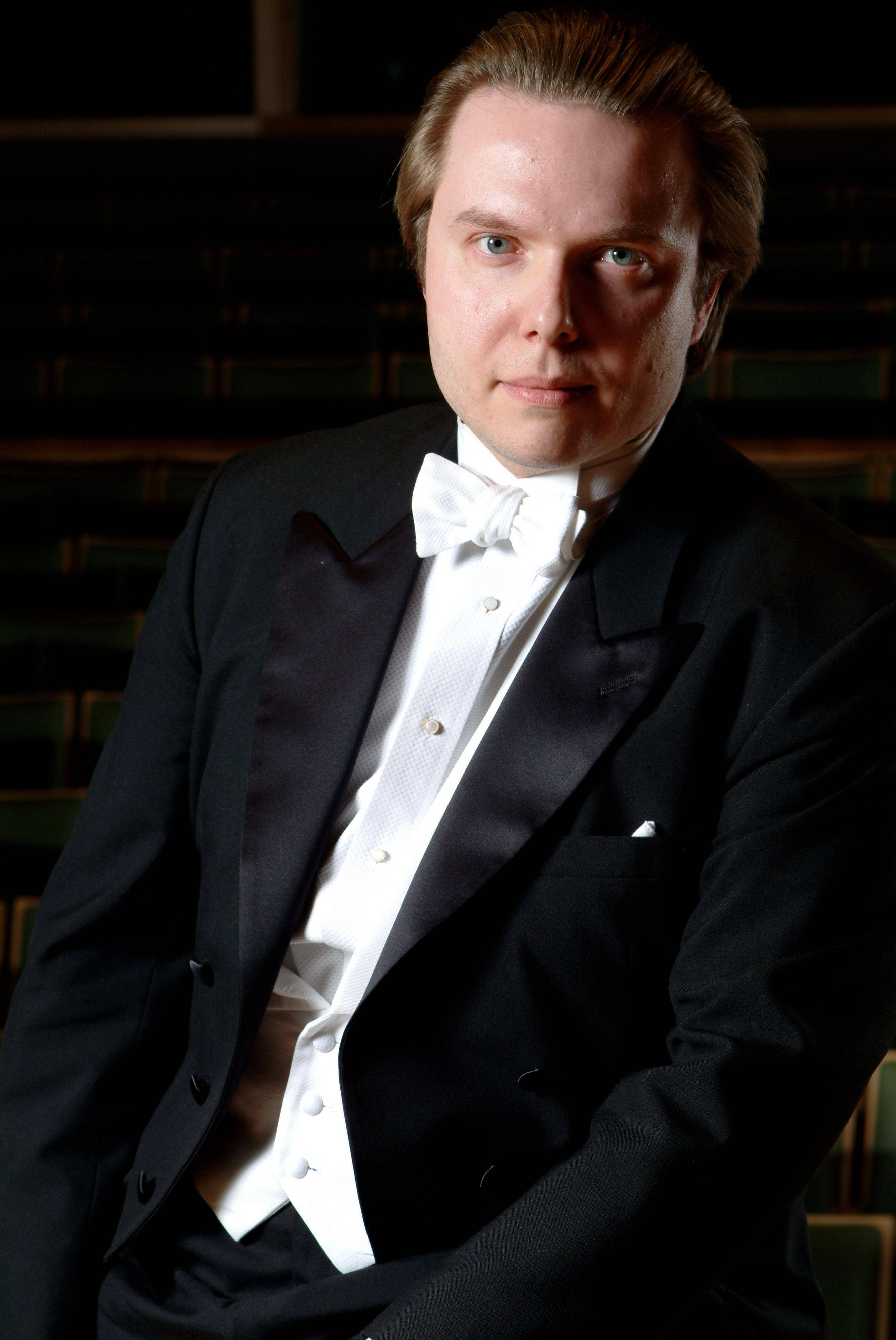 "Ignat Solzhenitsyn, principal guest conductor of the Moscow Symphony Orchestra, joins with the Elgin Symphony Orchestra for the concert ""Love and War: A Russian Spectacular"" at the Hemmens Cultural Center in Elgin."