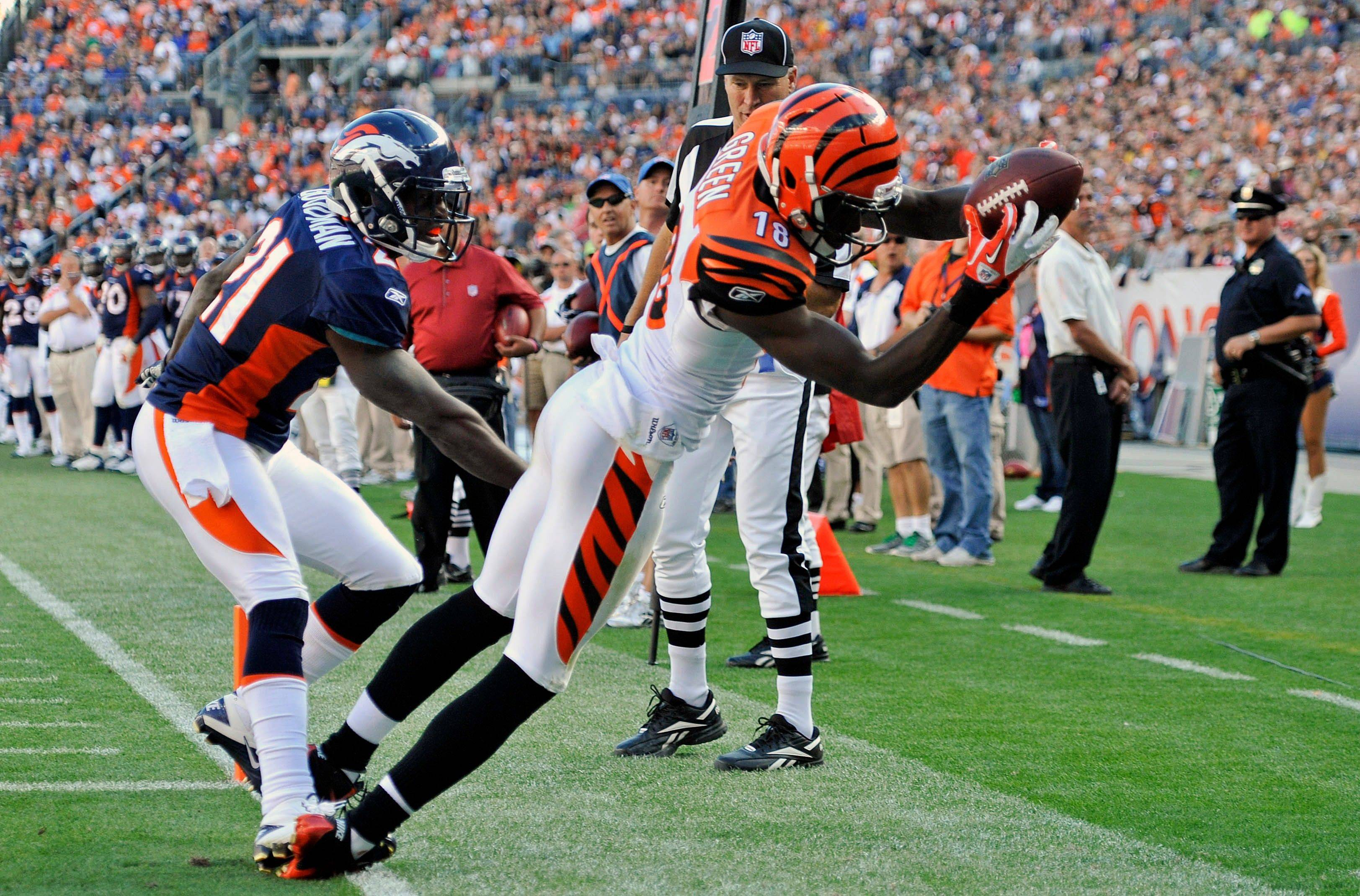 Cincinnati Bengals wide receiver A.J. Green (18) could have another big weekend as the Bengals faces the 49ers.