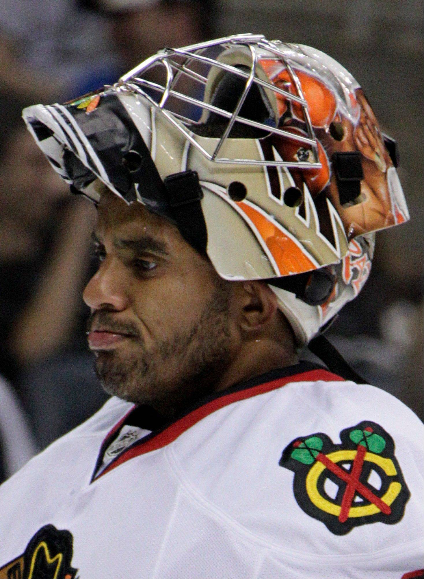 Ray Emery allowed 4 third-period goals to Pittsburgh on Thursday, but the battle for the backup goalie spot is still wide open.