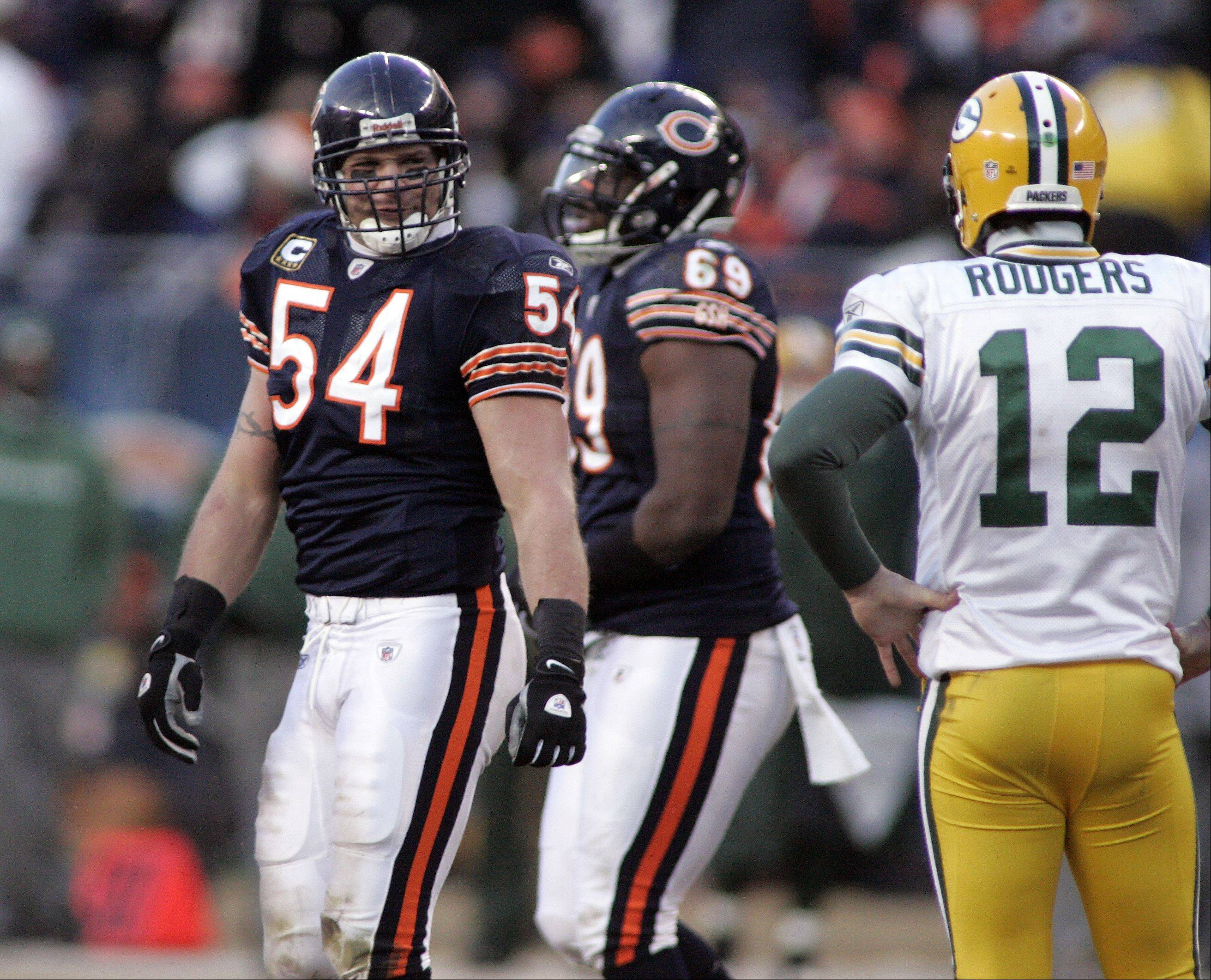 Can Brian Urlacher and the Chicago Bears defense stop the high-scoring Packers offense and quarterback Aaron Rodgers? Share your views in our Your Turn segment today. The final answer comes Sunday after the 3:15 p.m. kickoff at Soldier Field.