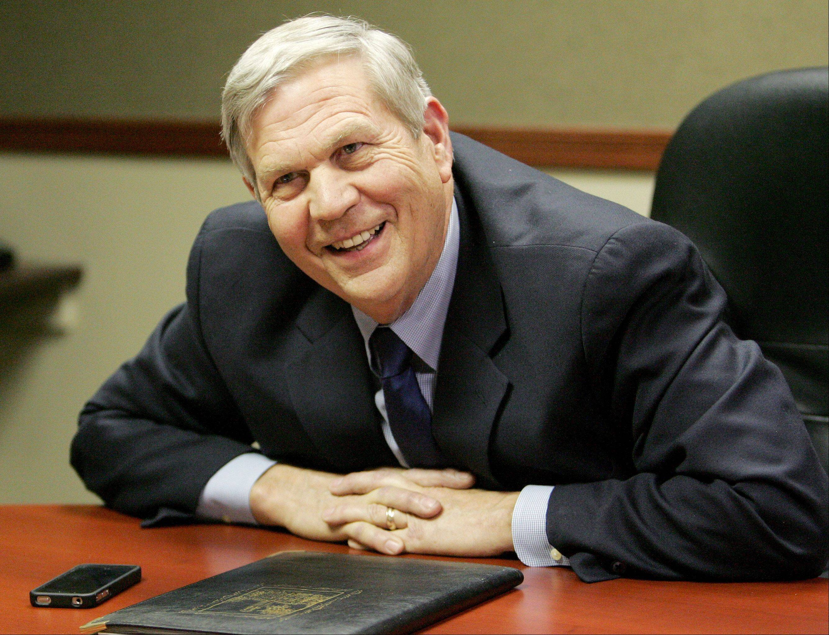 Republican state Sen. Tom Johnson wants lawmakers to stay out of Springfield every other year.