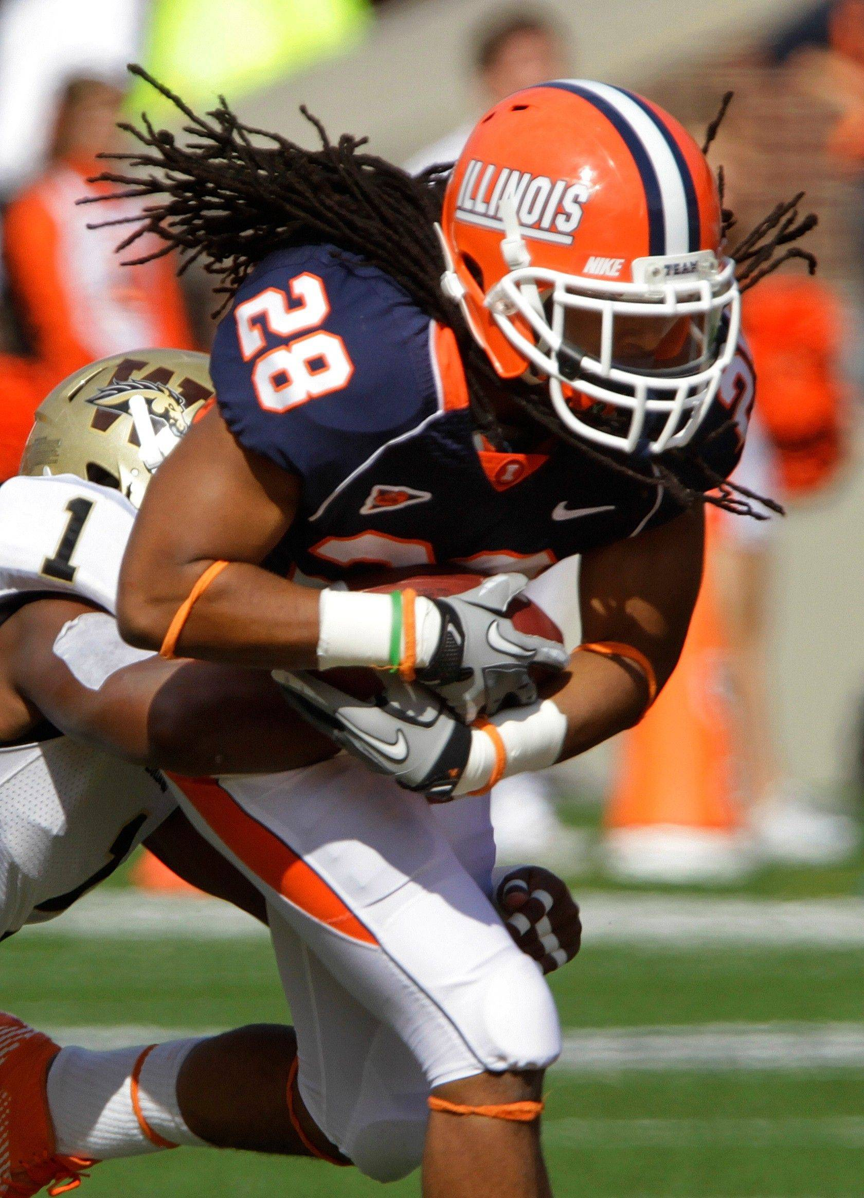Fifth-year senior running back Troy Pollard finished with career highs of 133 yards on 14 carries for Illinois.