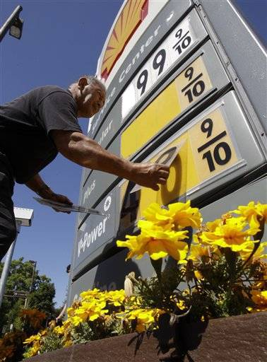 The average price for a gallon of gasoline in the U.S. has dropped 12 cents over the past two weeks.
