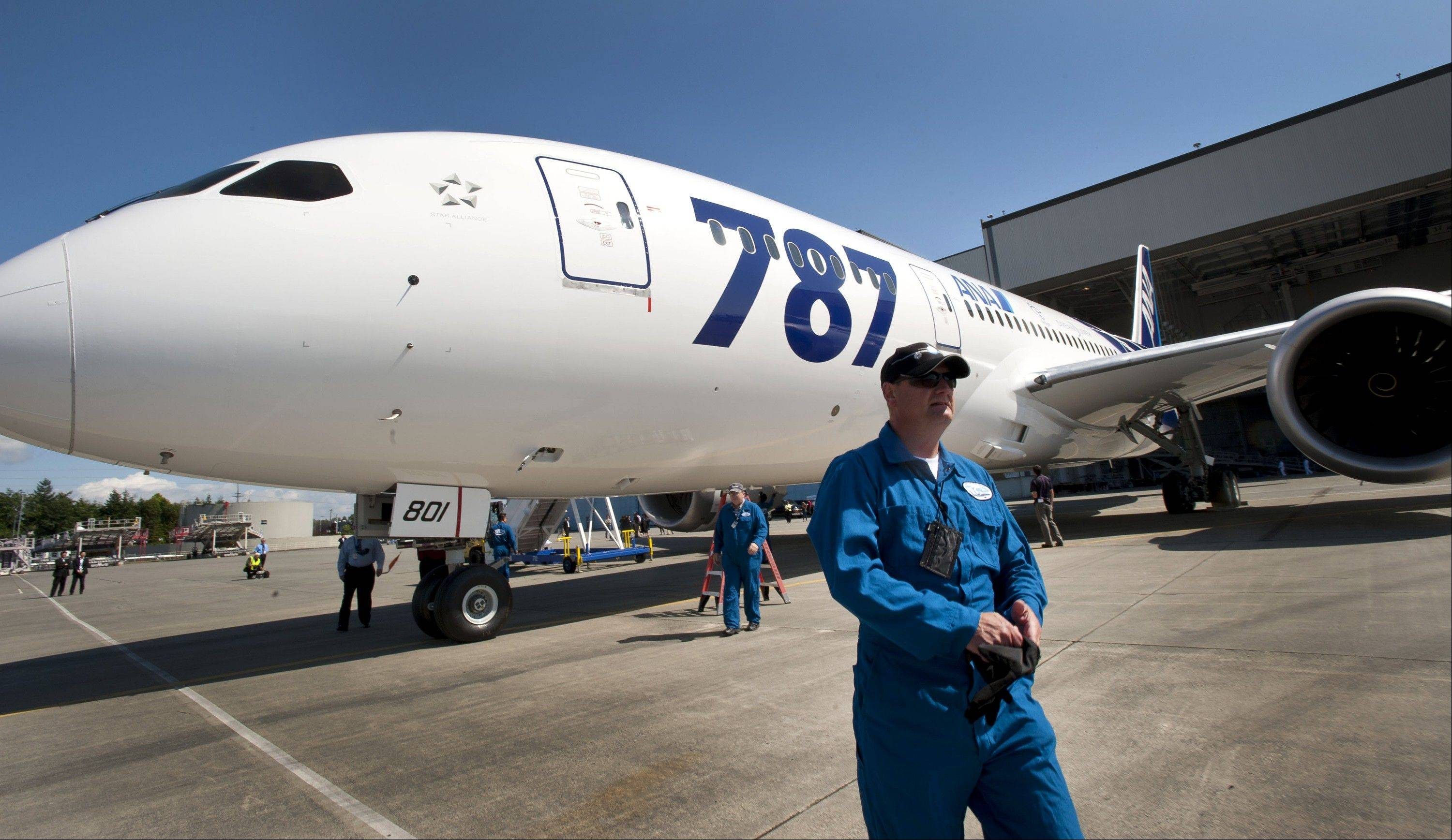 Boeing Co. rose the most in six weeks in New York trading as the delivery of the 787 Dreamliner ended more than three years of delays on the world's first jetliner with a fuselage made of carbon-fiber composites.