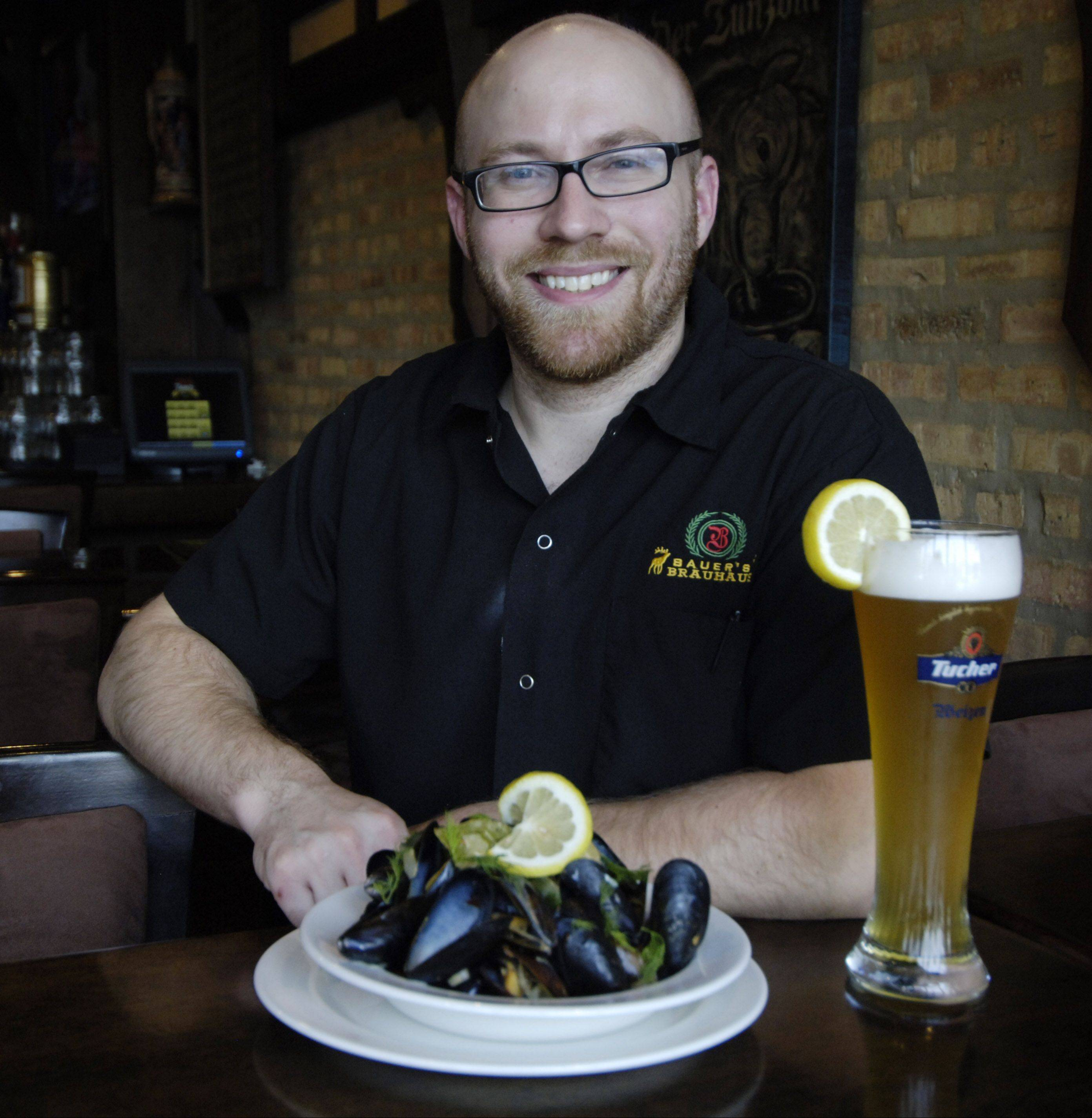 Chef Jason Bauer runs the kitchen at Bauer's Brauhaus in Palatine where he makes his own sausages and cooks German fare with local ingredients.