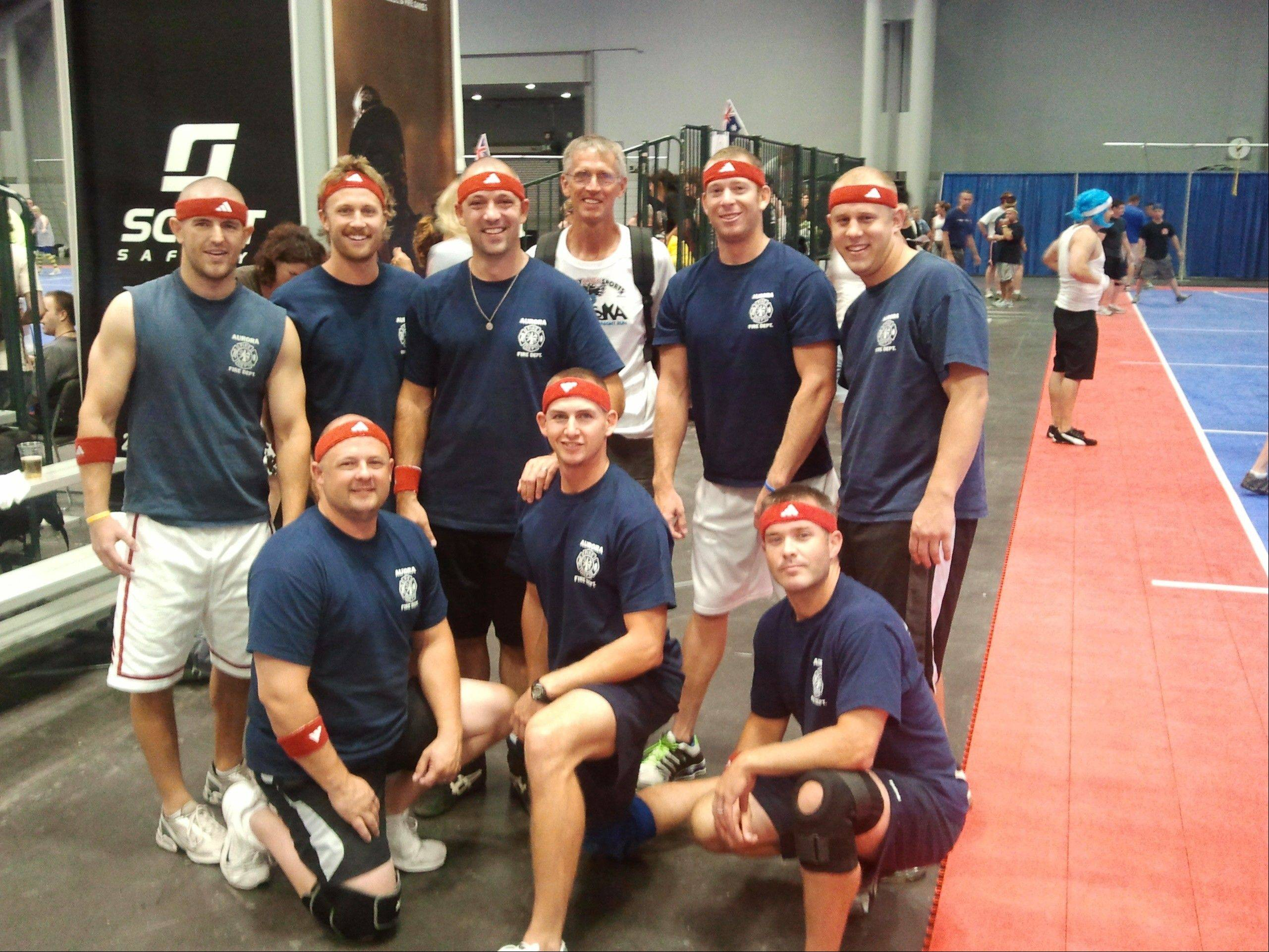 A dodgeball team with seven Aurora firefighters and one from North Aurora won the gold medal at this year's World Police and Fire Games in New York City.