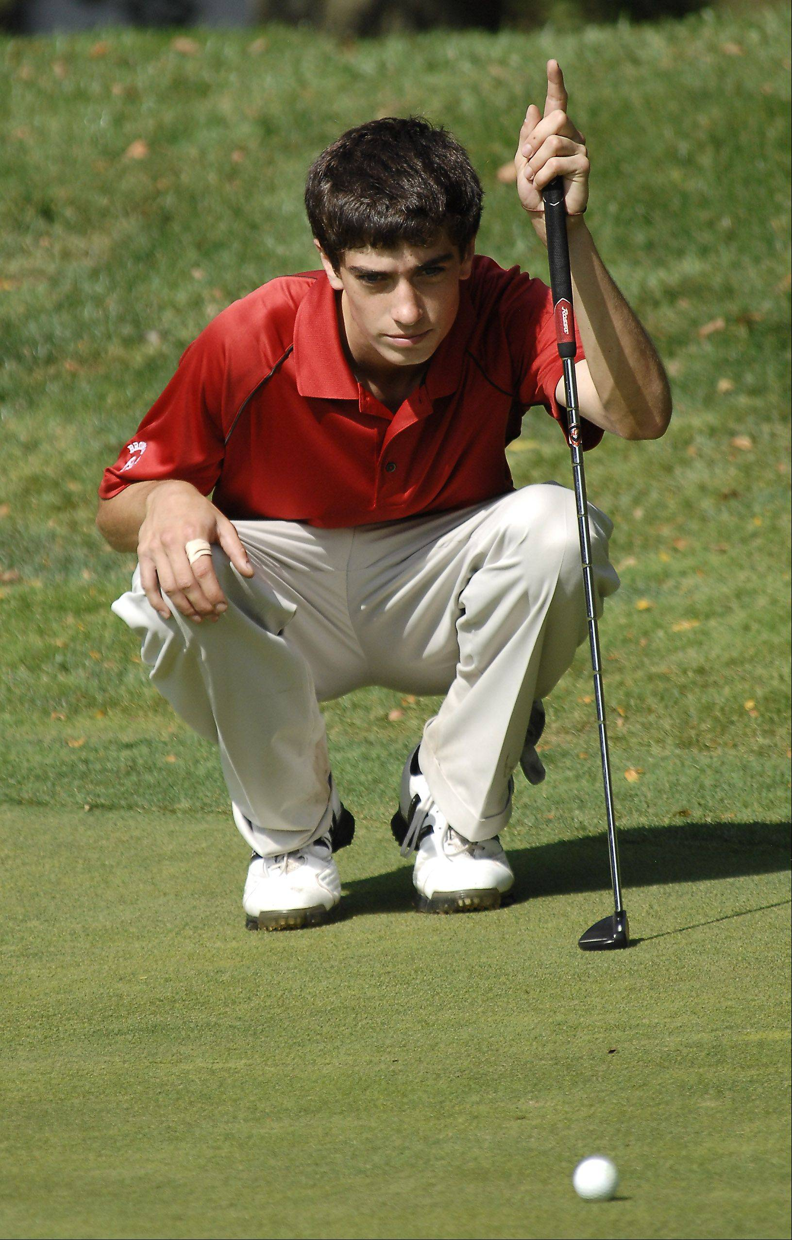 Taylor Ganzer has Barrington aiming for another Mid-Suburban League boys golf title today.