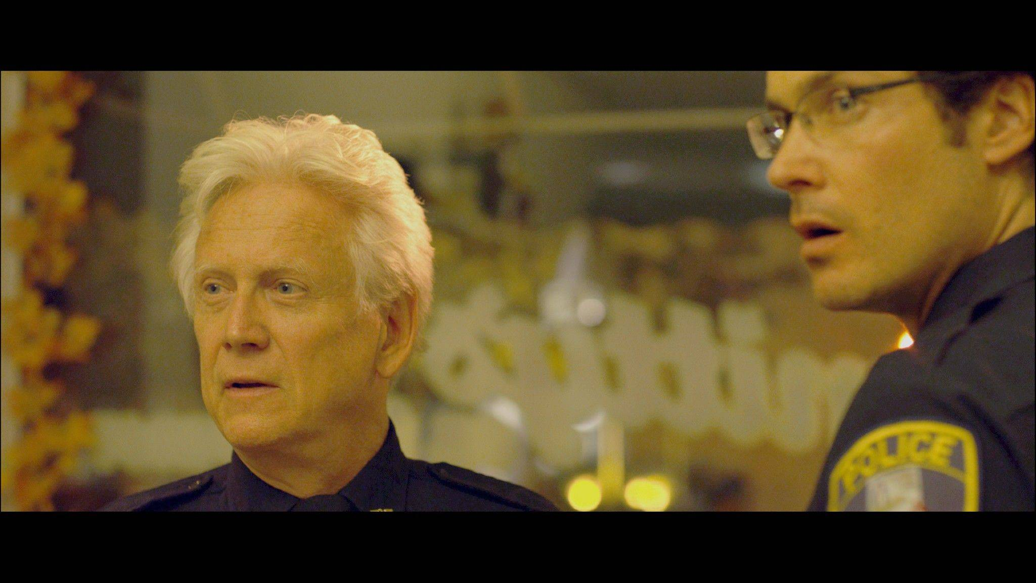 "St. Charles' police chief (Oscar nominee Bruce Davison) and his deputy (Randall Batinkoff) investigate the possible return of an escaped serial killer in Nicholas Smith's ""Munger Road."""