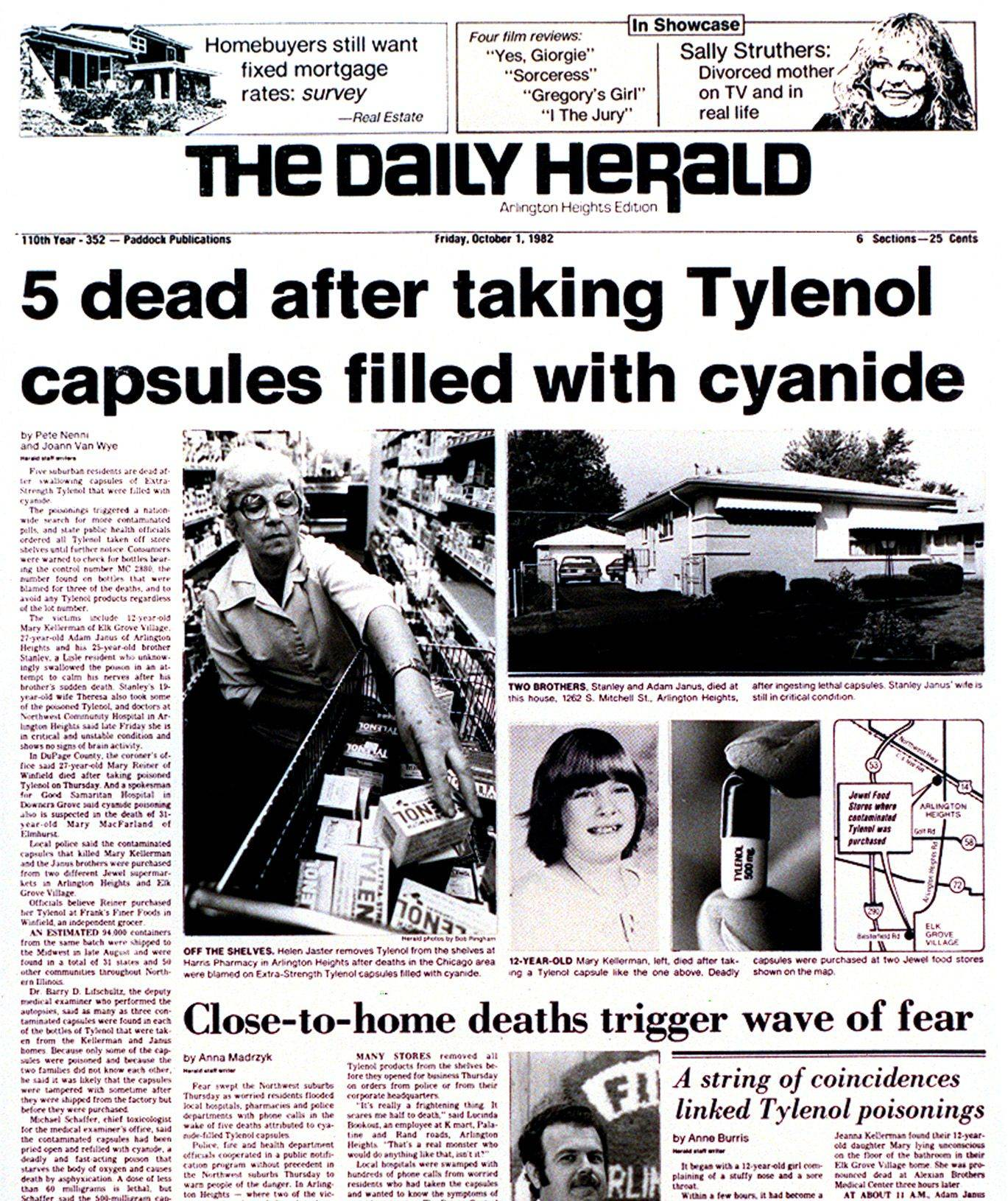 tylenol cyanide crisis The fbi has reopened their investigation into the notorious 1982 chicago tylenol poisonings each of the capsules proved to be laced with potassium cyanide at a.